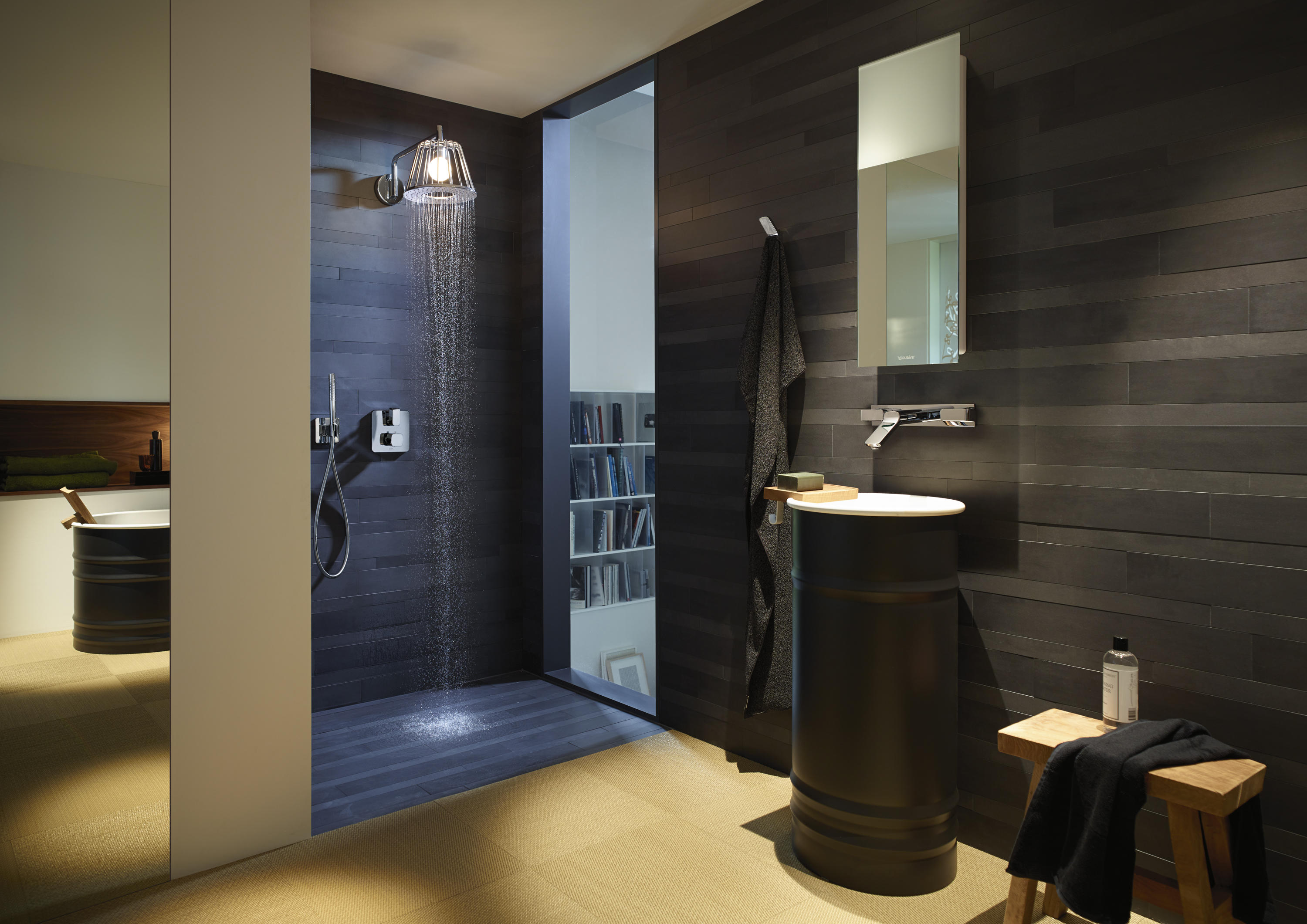 AXOR LAMPSHOWER 1JET WITH SHOWER ARM - Shower controls from AXOR ...