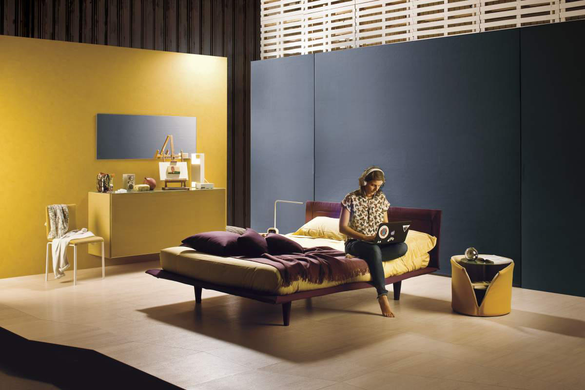 Colletto bed double beds from lago architonic for Lago colletto bed