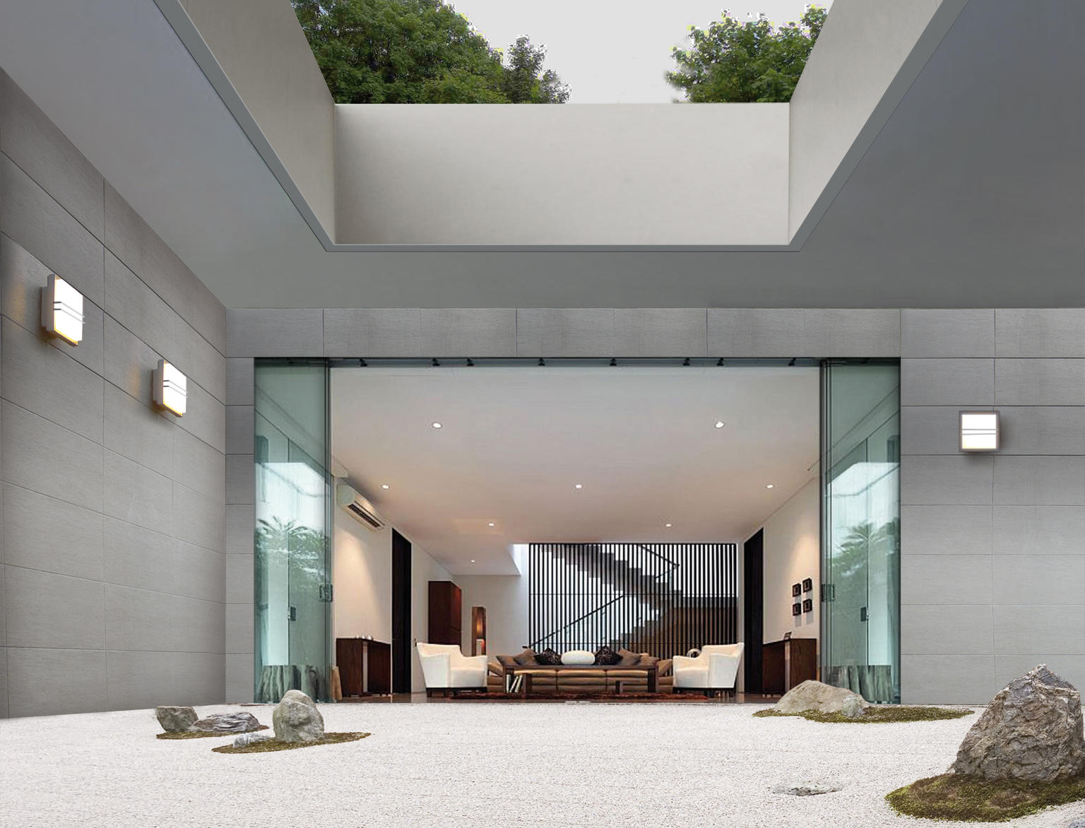 ZEN SQUARE WITH GRILL Wall lights from Simes Architonic