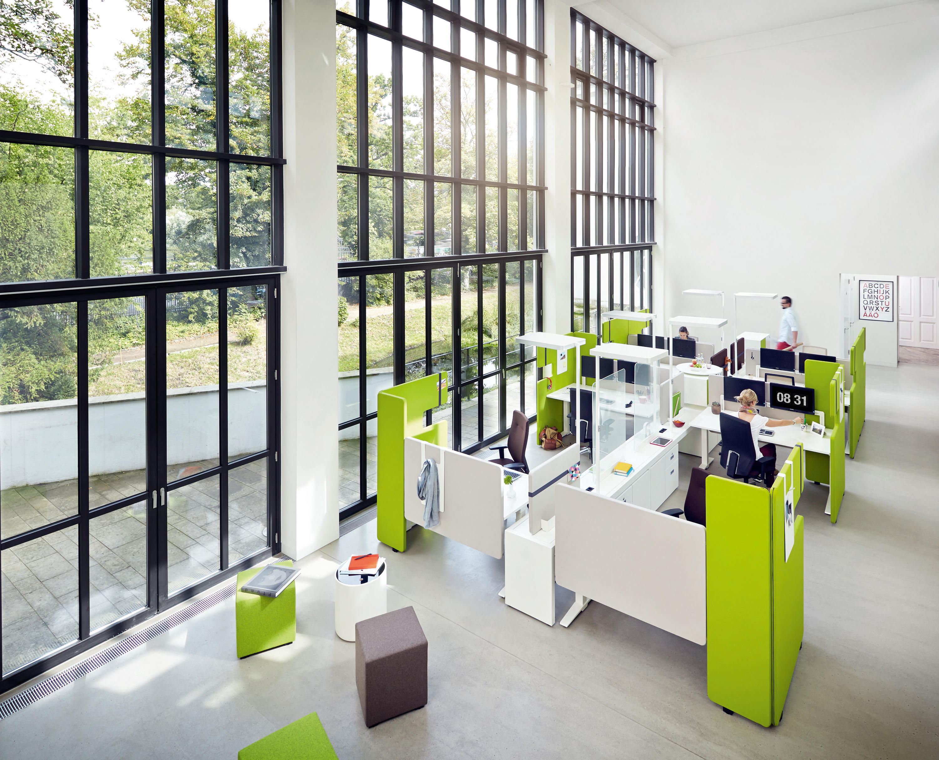 Team work space screen office pods from könig neurath architonic