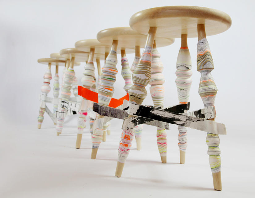 ... Processed Paper | Harlequin stool by Utopia and Utility ... & PROCESSED PAPER | HARLEQUIN STOOL - Bar stools from Utopia and ... islam-shia.org