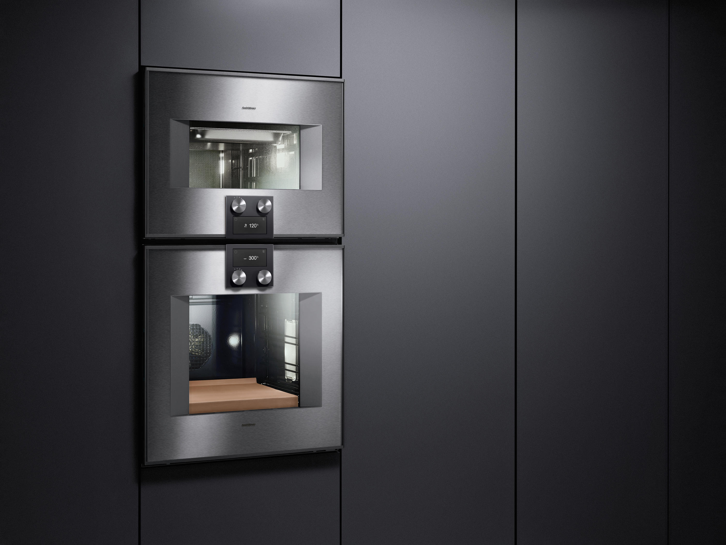 doppel backofen serie 400 bx 480 bx 481 back fen von gaggenau architonic. Black Bedroom Furniture Sets. Home Design Ideas