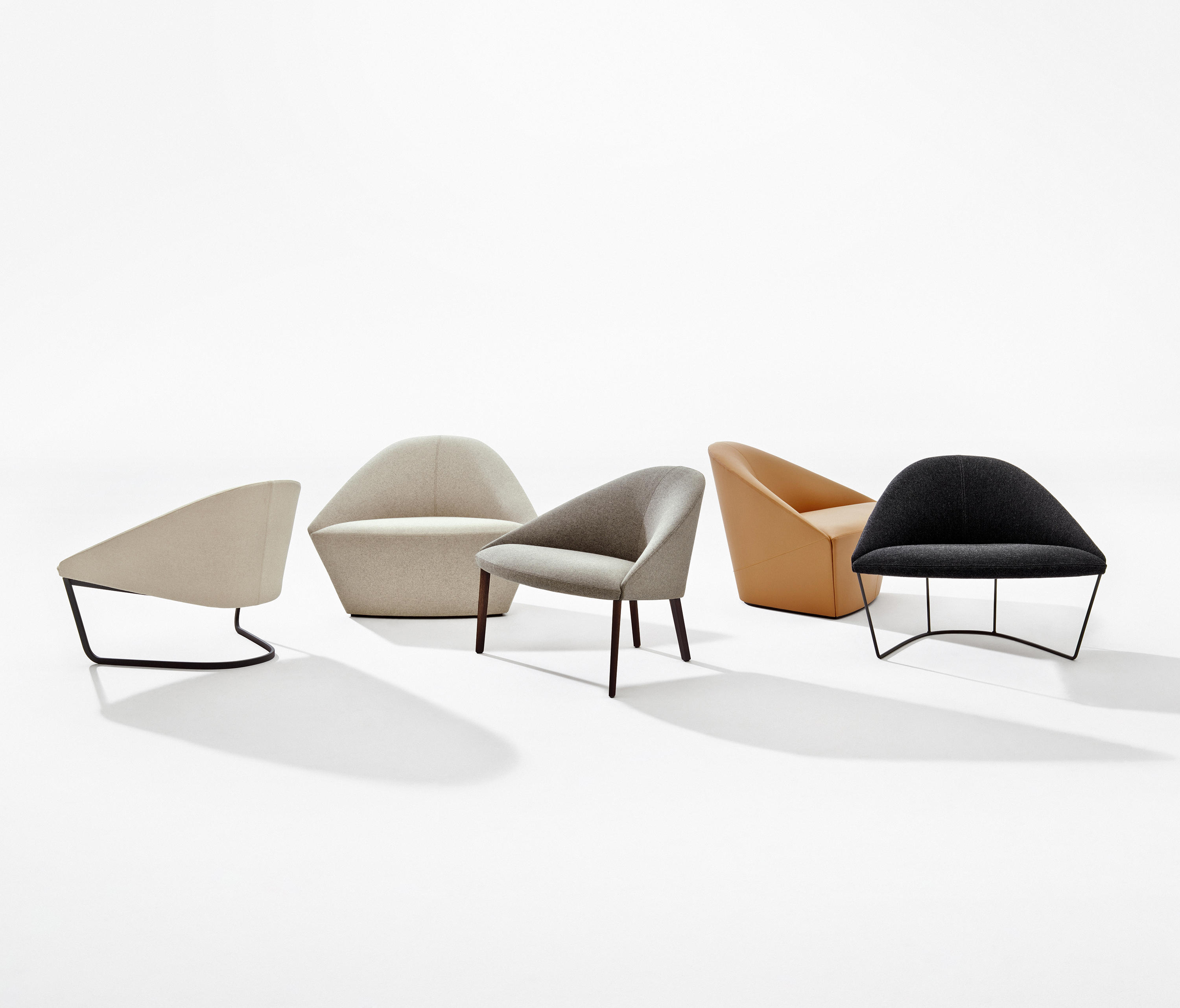 colina l  lounge chairs from arper  architonic - colina l by arper colina l by arper