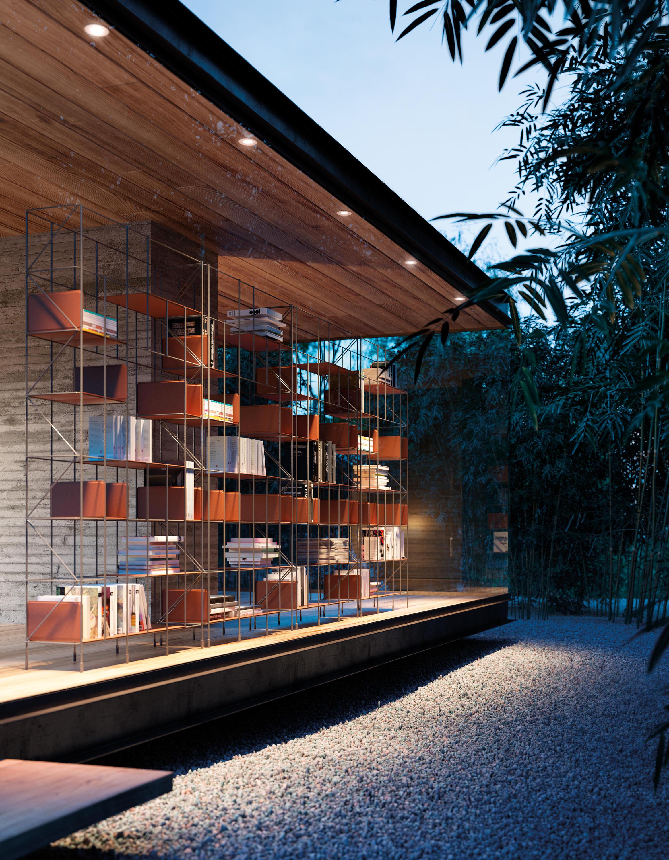 Network libreria sistemi scaffale ufficio casamania for Michael nicholas progetta mobili