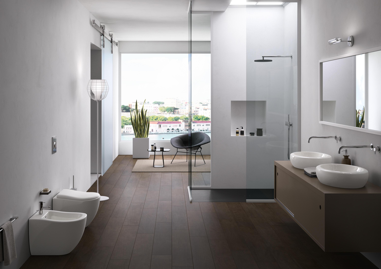 Fluid lavabo dappoggio 45 lavabi ceramica cielo architonic