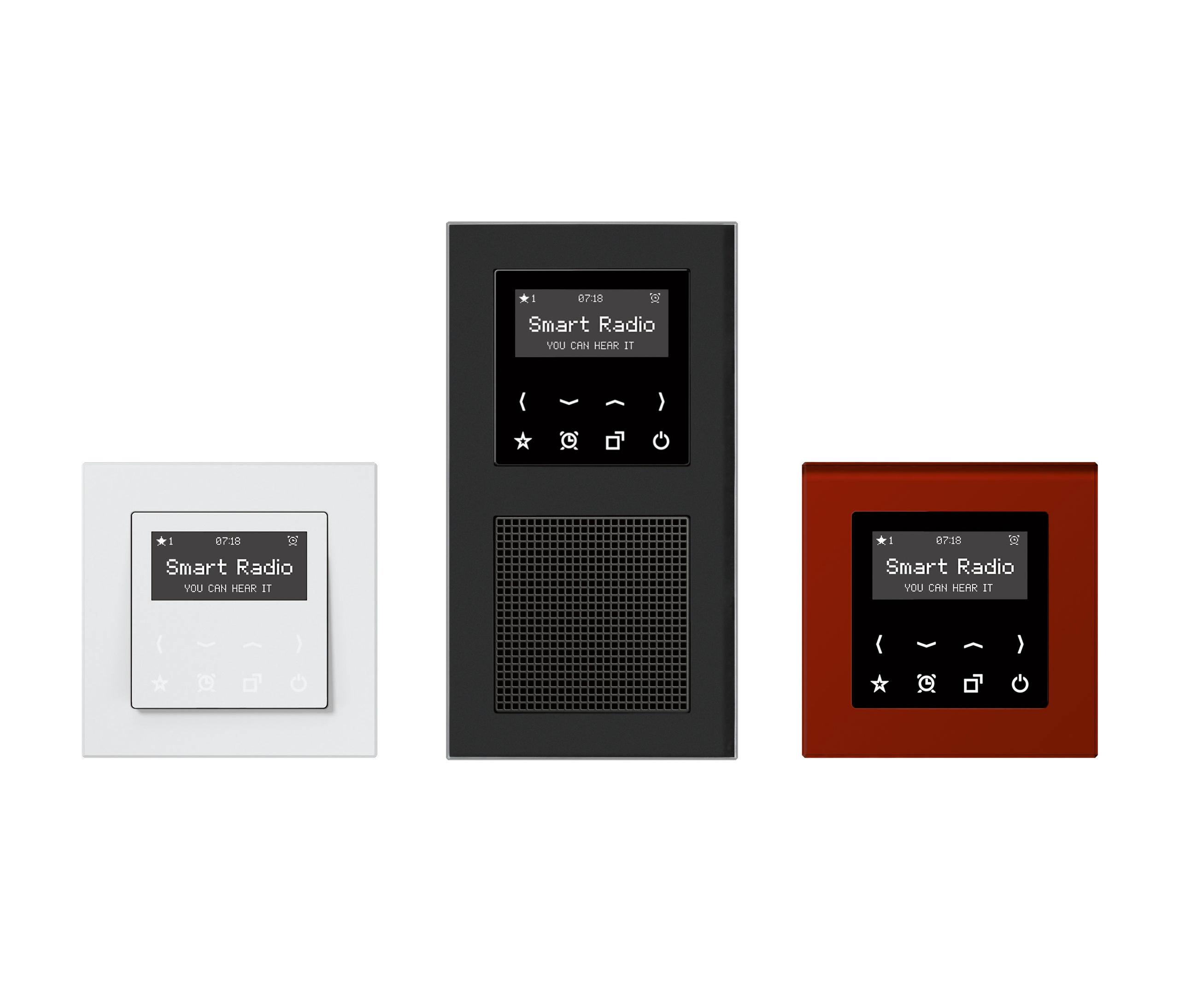 smart radio ls plus soundmanagement multimedia von jung architonic. Black Bedroom Furniture Sets. Home Design Ideas