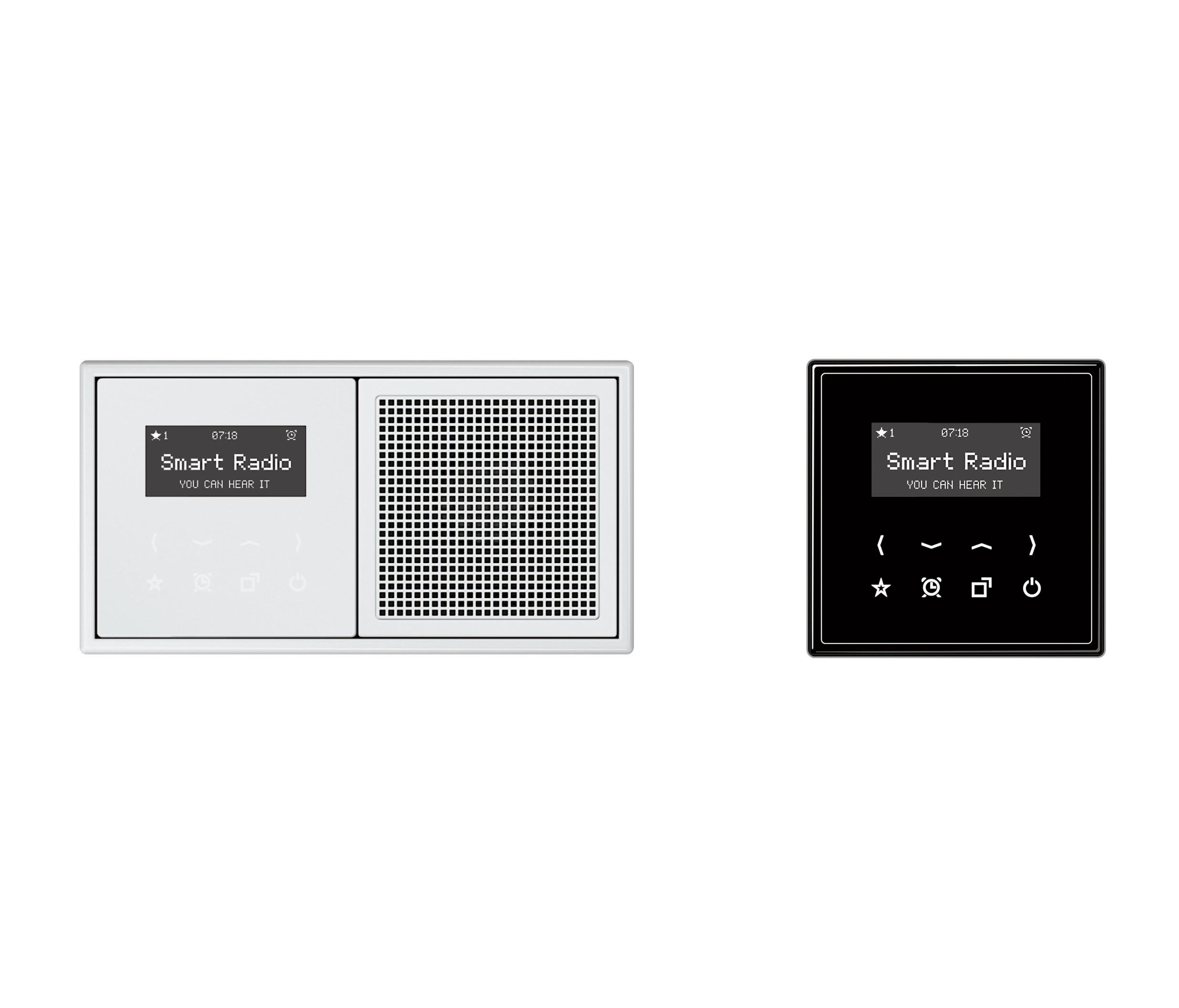 smart radio ls plus soundmanagement multimedia von jung architonic. Black Bedroom Furniture Sets. Home Design Ideas