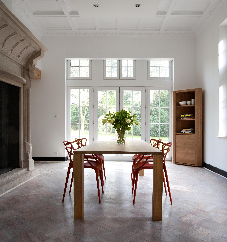 Oak apron dining table tavoli ristorante ethnicraft for Produttori tavoli