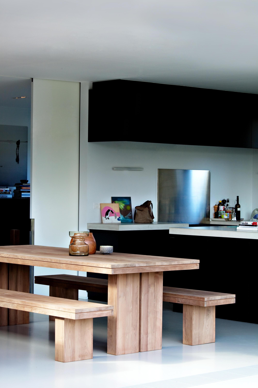 Teak Double Extendable Dining Table Restaurant Tables