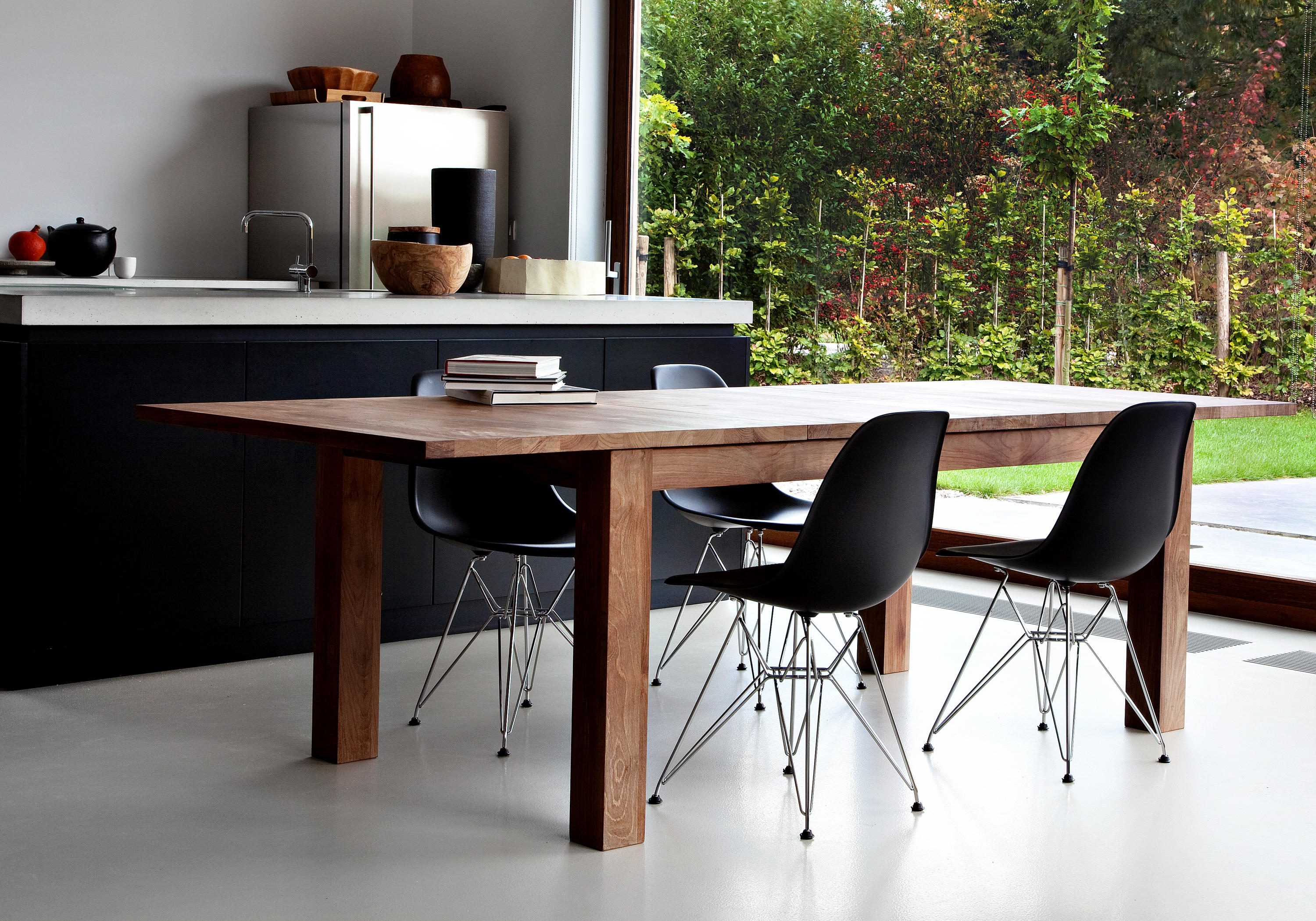 Teak Stretch Extendable Dining Table Restaurant Tables