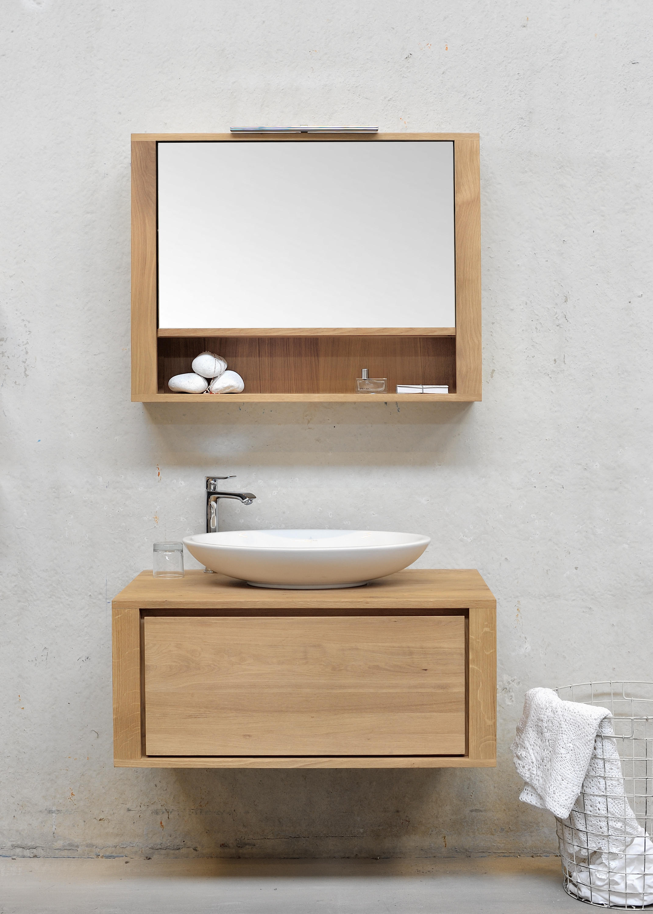 Shadow wall mounted base unit vanity units from for Armoire toilette