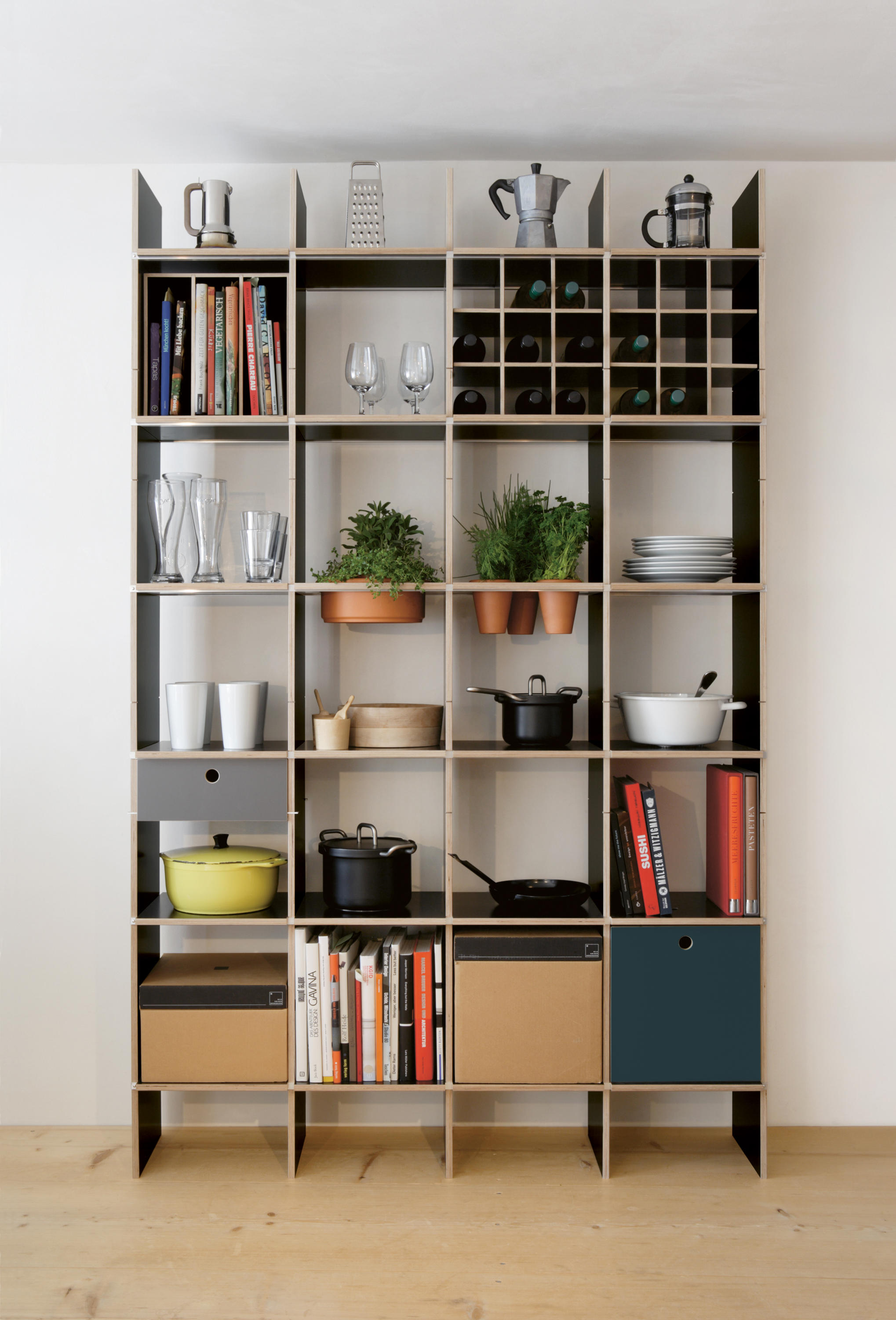 fnp kitchen shelving by moormann architonic. Black Bedroom Furniture Sets. Home Design Ideas
