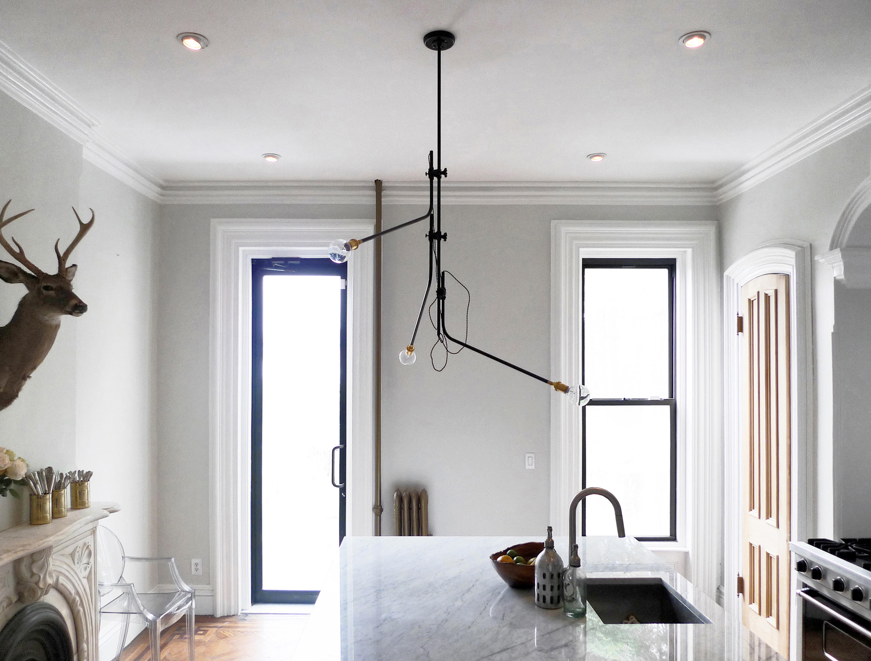 bent chandelier suspended lights from workstead architonic