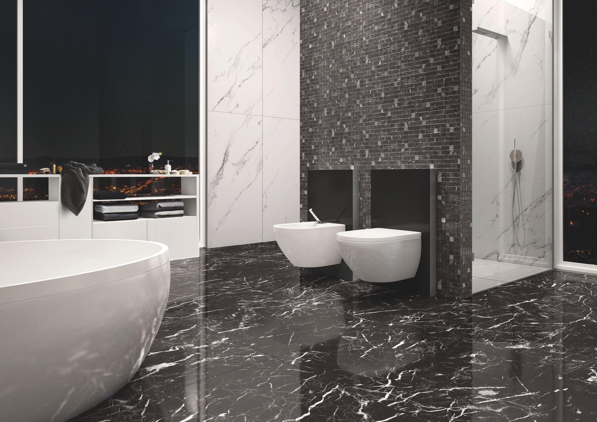 Piastrelle bagno grigio chiaro perfect piastrelle bagno mosaico