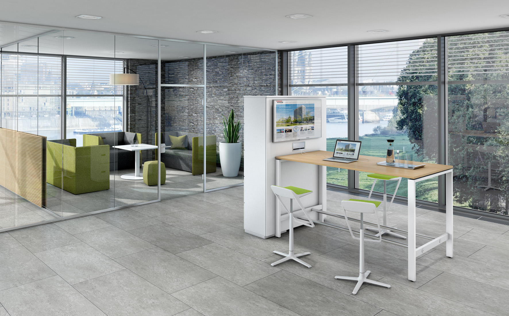 solos desk desking systems from assmann b rom bel. Black Bedroom Furniture Sets. Home Design Ideas