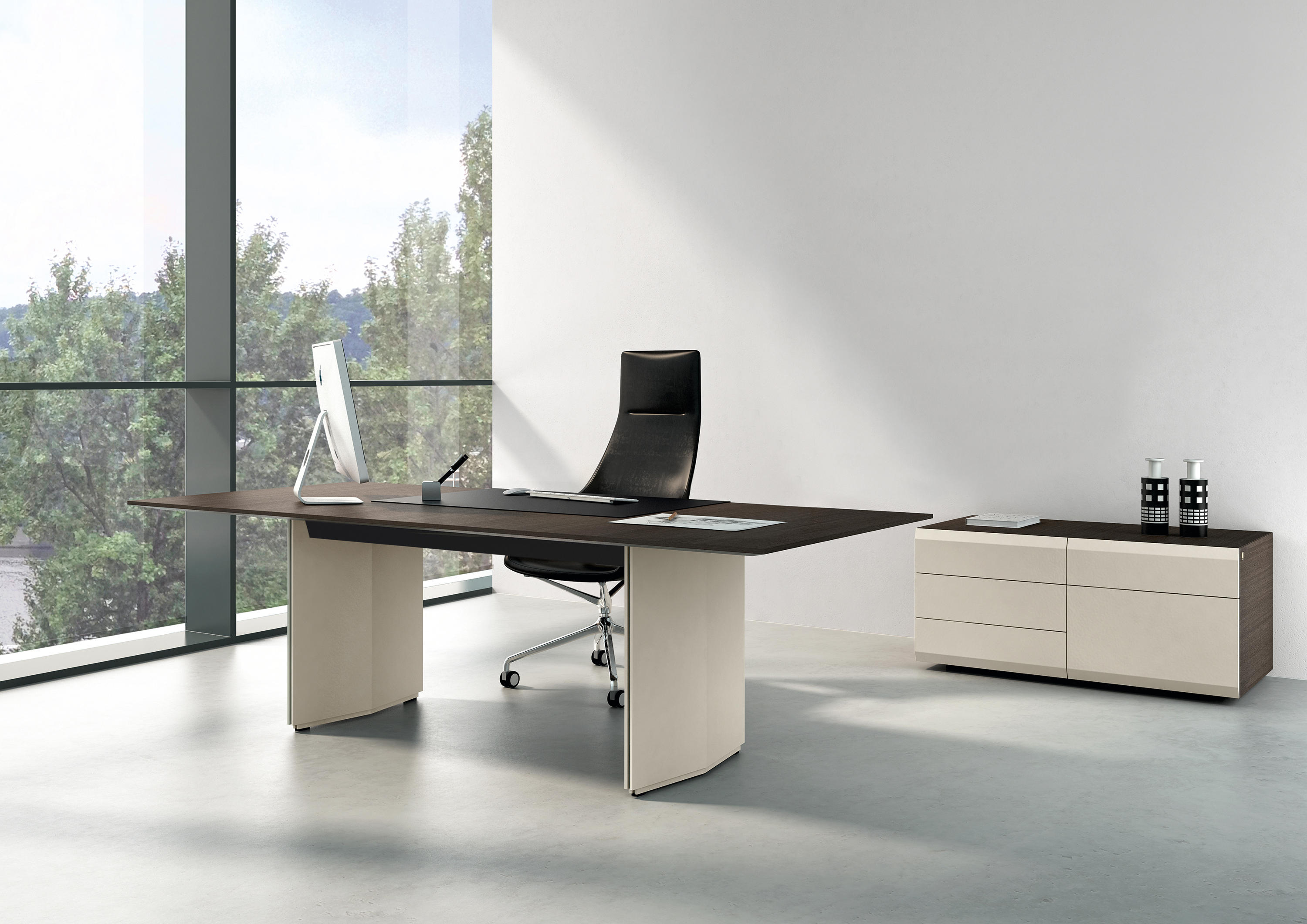 pace office table bureaux individuels de renz architonic. Black Bedroom Furniture Sets. Home Design Ideas