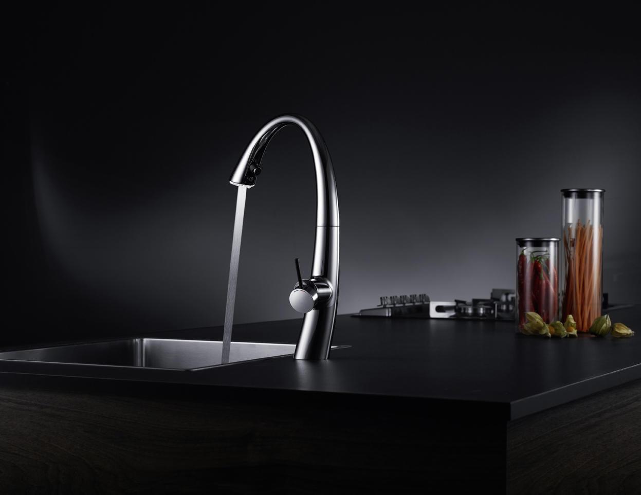 KWC ZOE LEVER MIXER| SWIVEL SPOUT 90° - Wash-basin taps from KWC ...