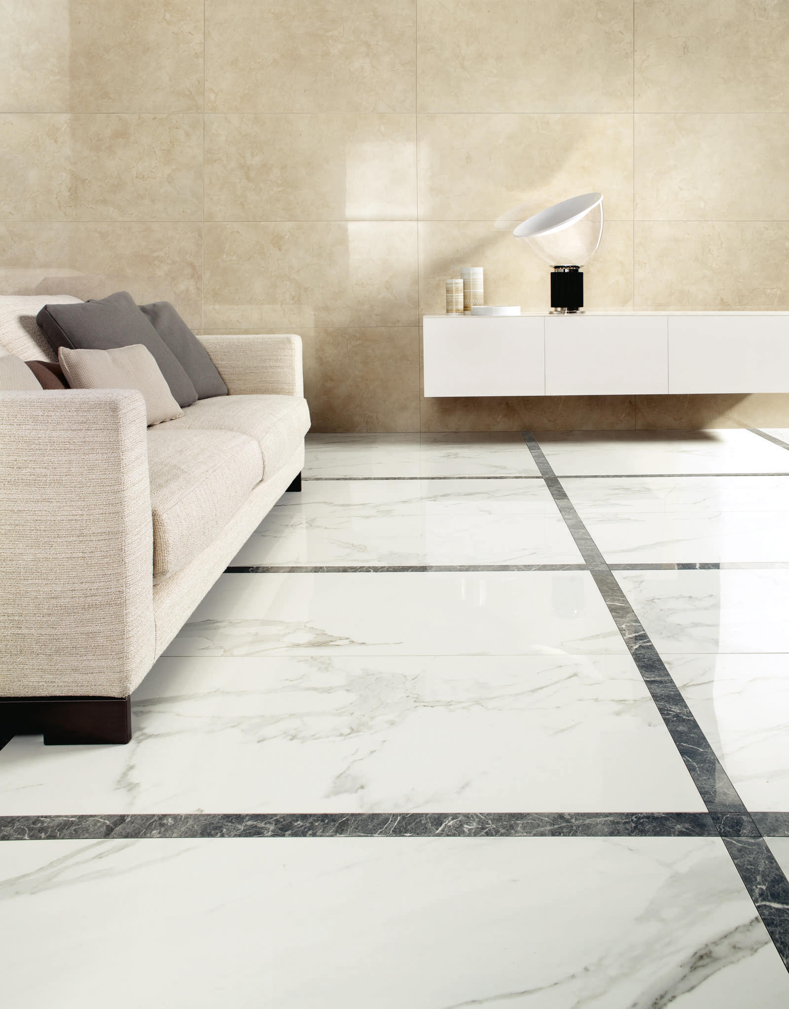 Anima decors composizione f calacatta oro floor tiles for Carrelage marbre