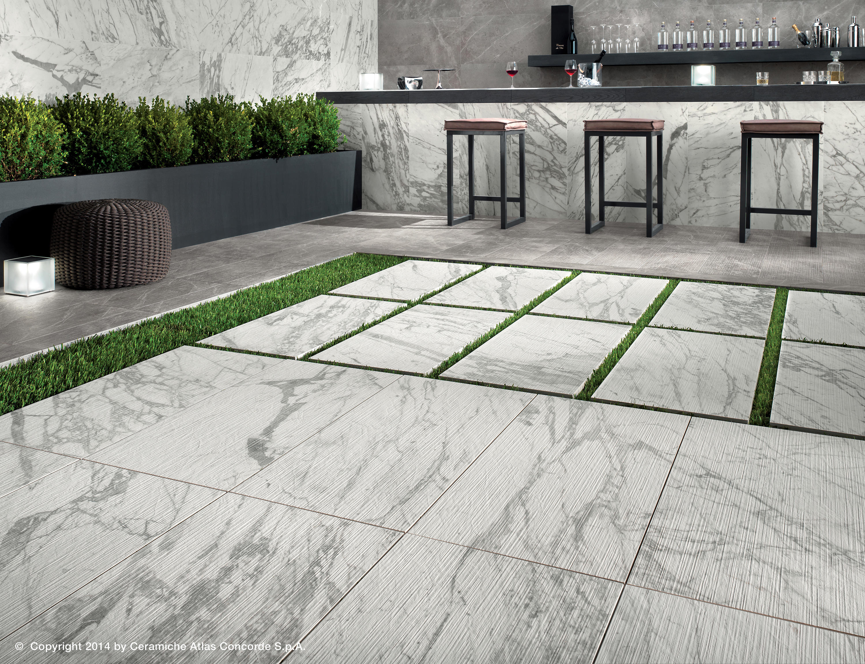 Marvel pro statuario select ribbon ceramic tiles from - Ceramiche da esterno ...