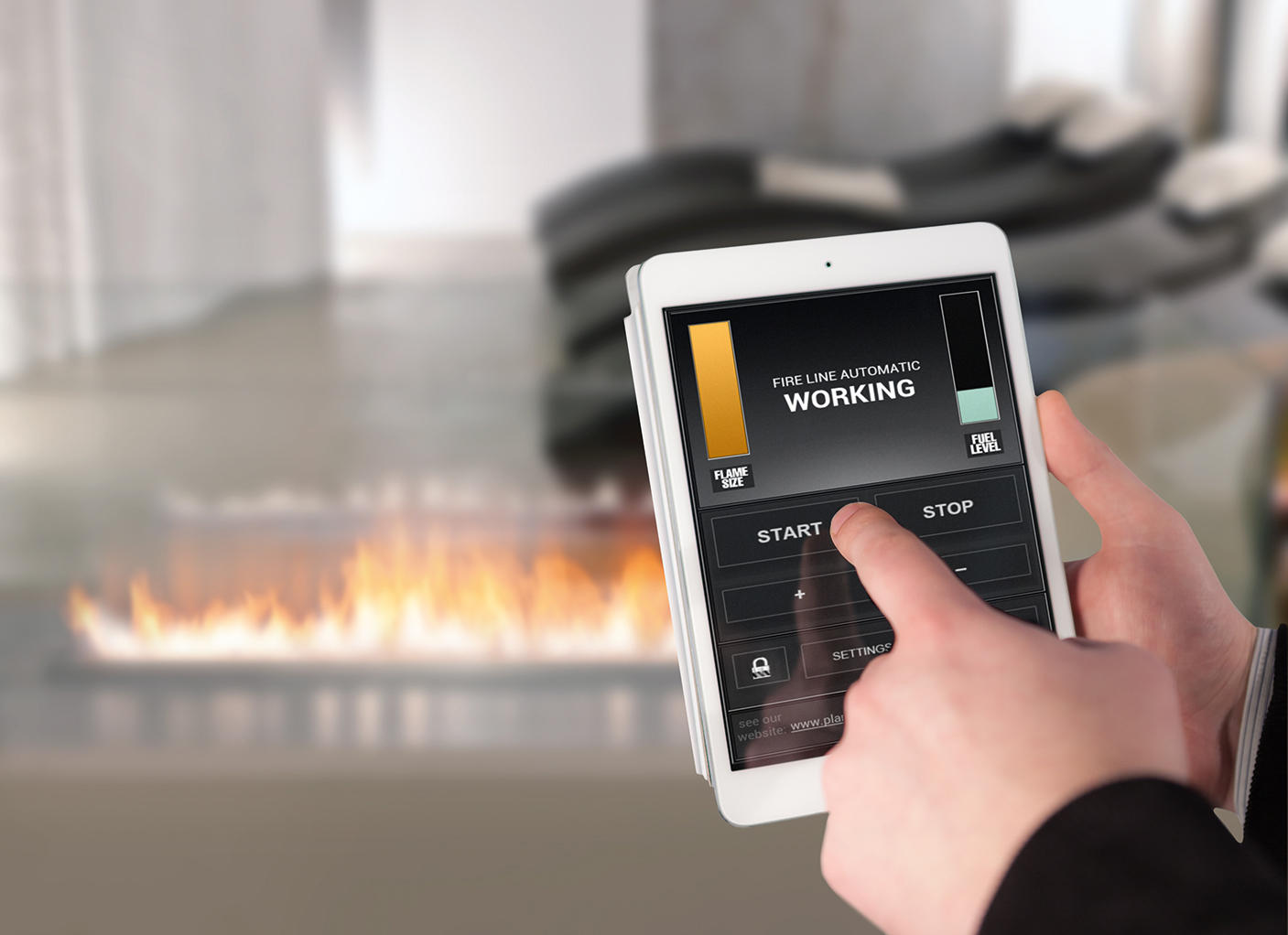 fire line automatic 3 ventless ethanol fires from planika