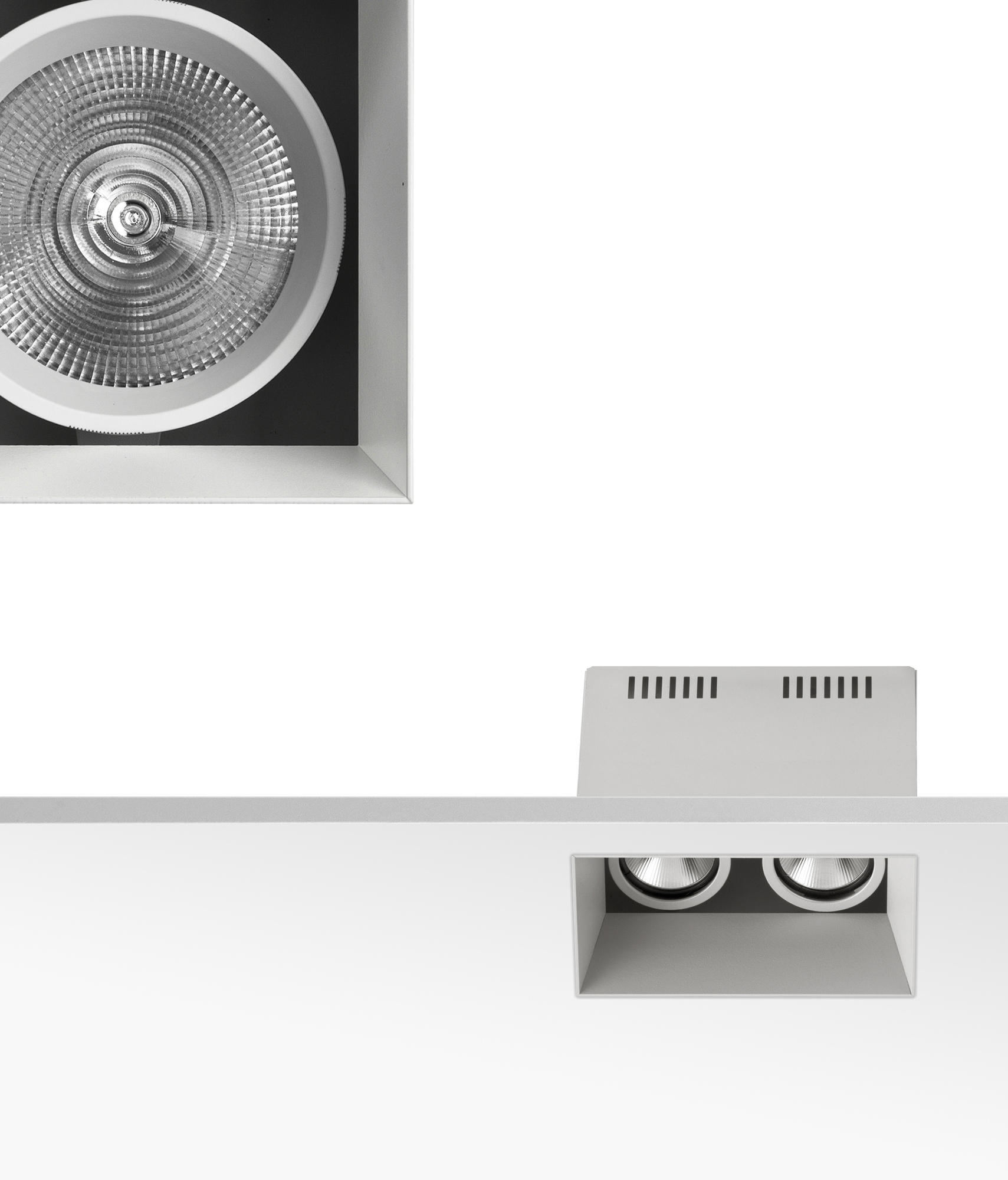 compass box recessed large 1l spotlights from flos architonic. Black Bedroom Furniture Sets. Home Design Ideas