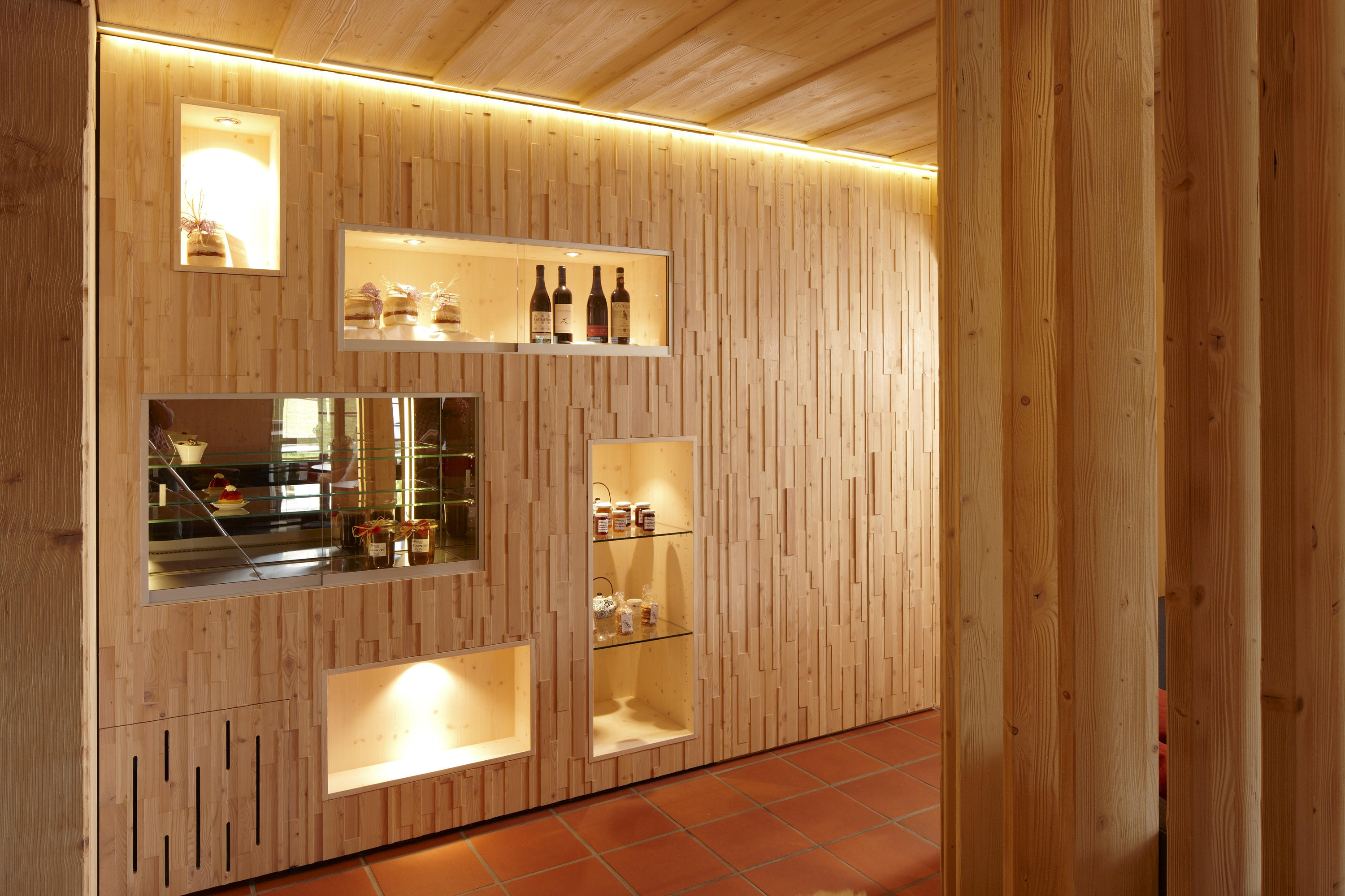 Elements cube reclaimed wood alder grey wood panels from for Element salle de bain