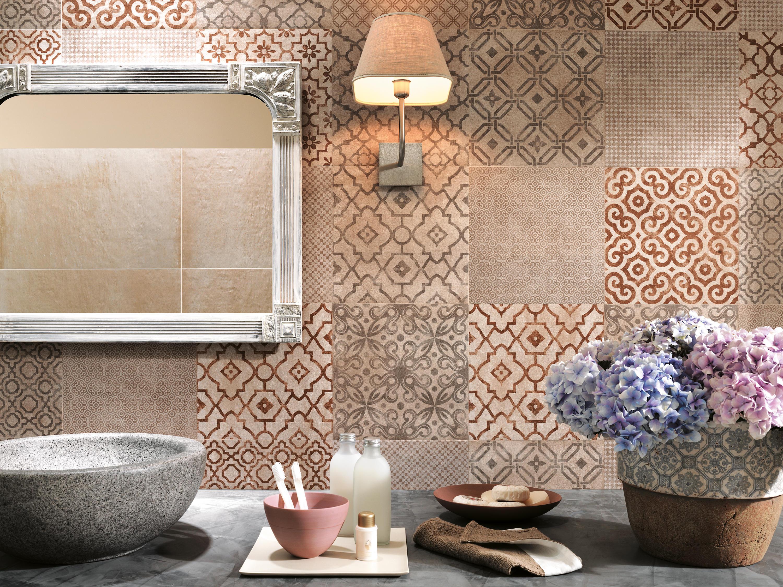 Piastrelle cucina vintage gres porcellanato decorato esagonale