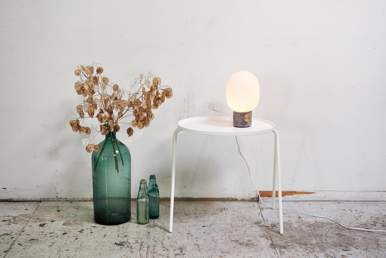 Menu Carrie Lamp : Jwda concrete lamp light grey brass tischleuchten von menu