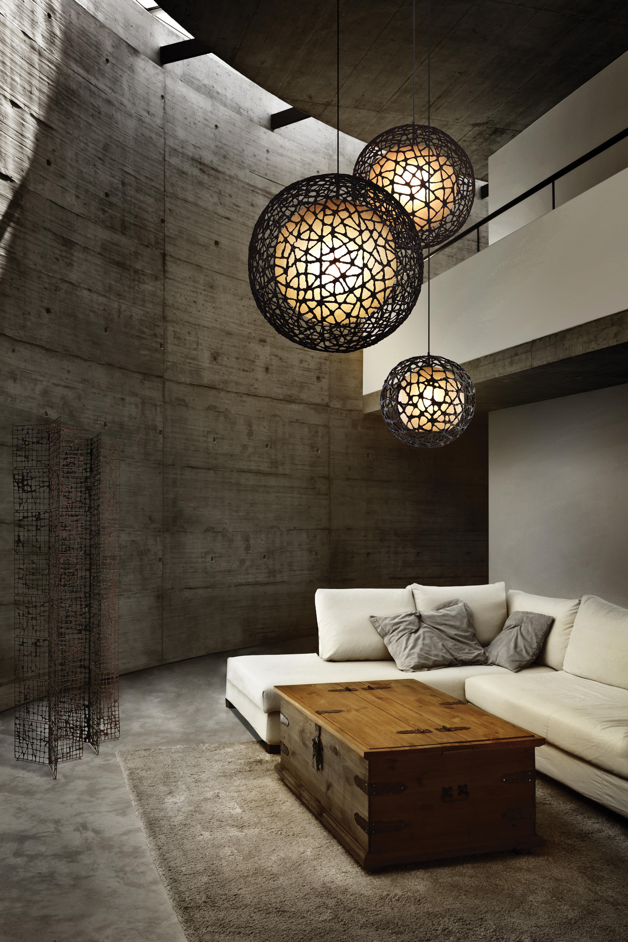 C U C Me Hanging Lamp Round Large Suspended Lights From Kenneth Cobonpue Architonic