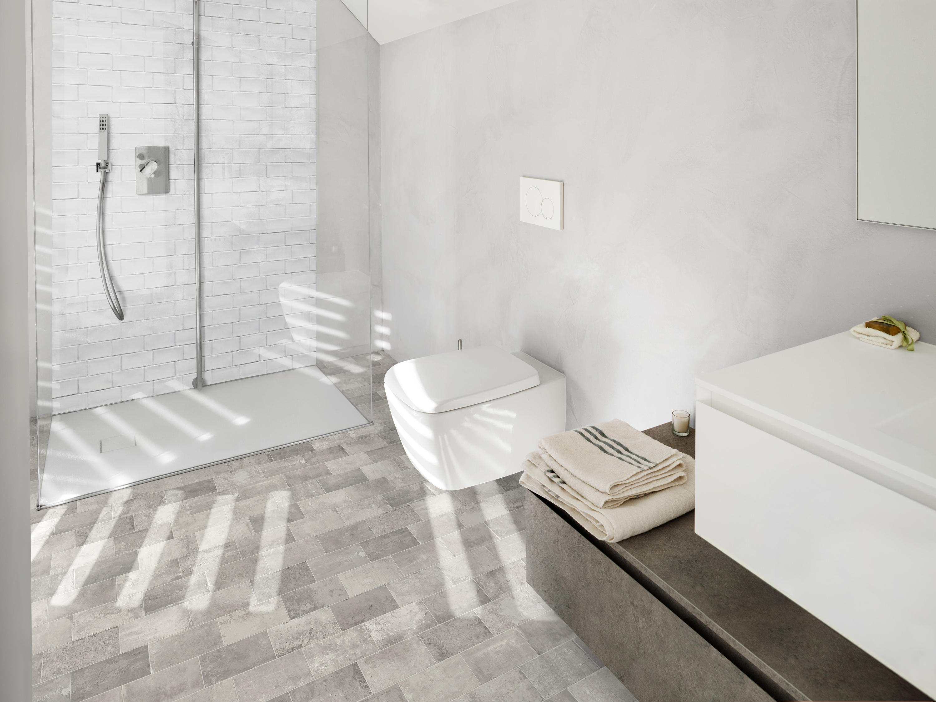 BETONBRICK FLOOR WHITE-GREY - Ceramic tiles from TERRATINTA GROUP ...