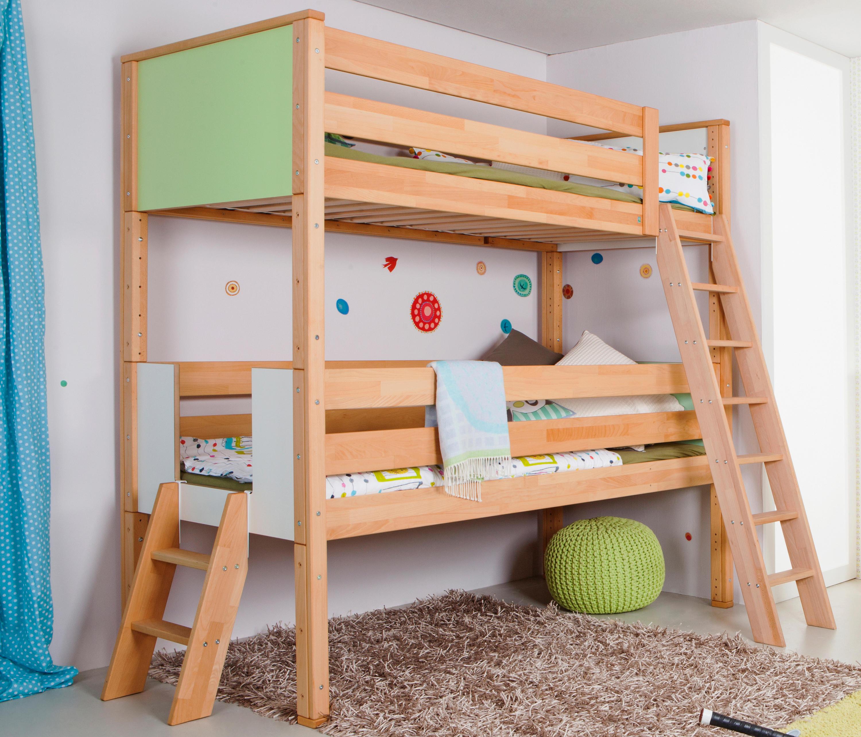 medium loft bed with shelves infant 39 s beds by de breuyn. Black Bedroom Furniture Sets. Home Design Ideas