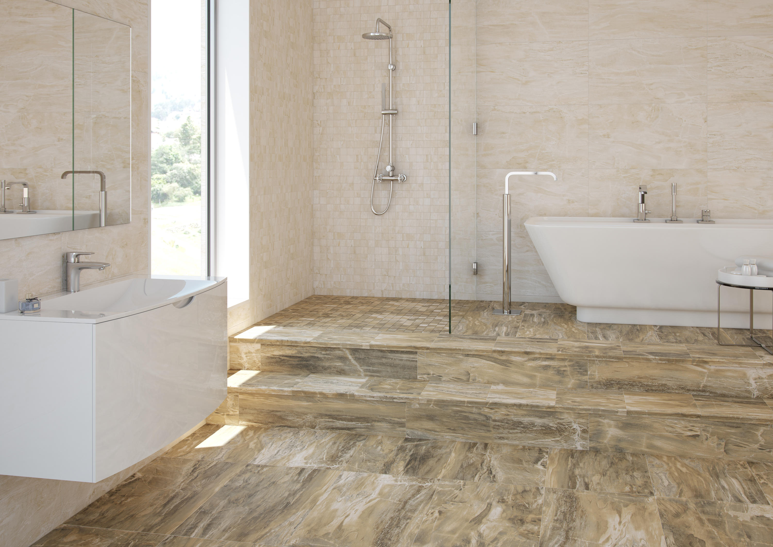 Fossil salt tiles from ceramica mayor architonic - Gres extrusionado natural ...