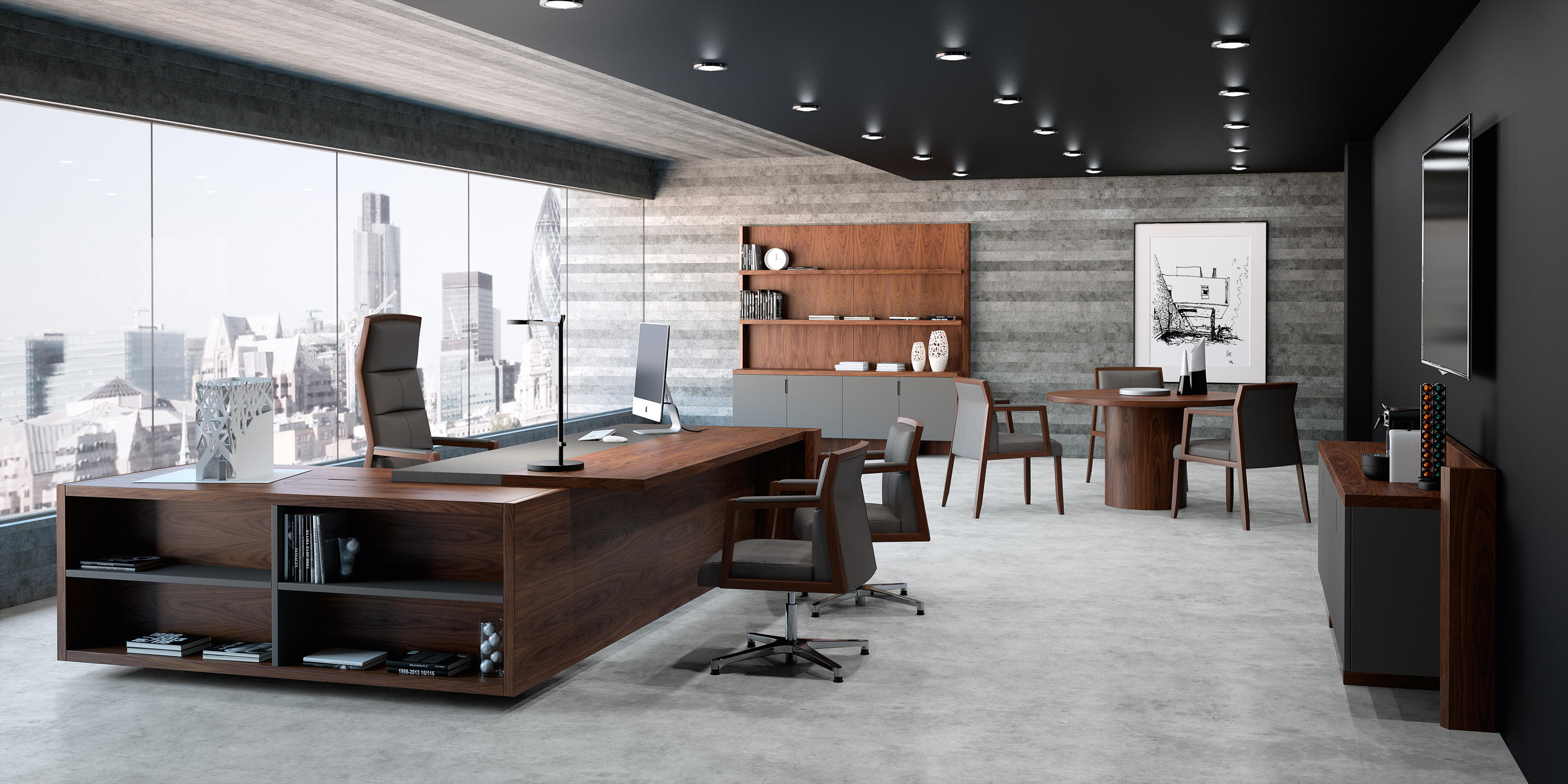 Freeport mesa direcci n executive desks from ofifran for Muebles de oficina silieri koncept