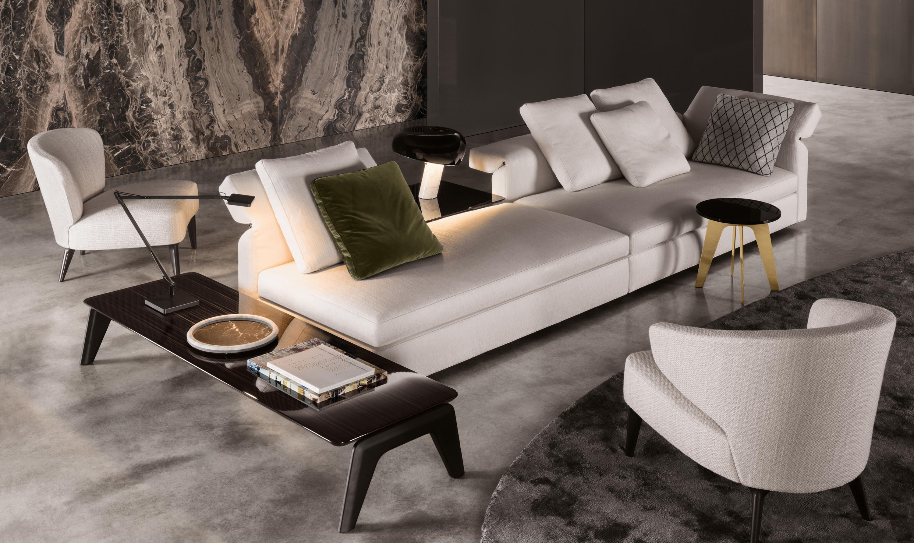 collar lounge sofas from minotti architonic. Black Bedroom Furniture Sets. Home Design Ideas
