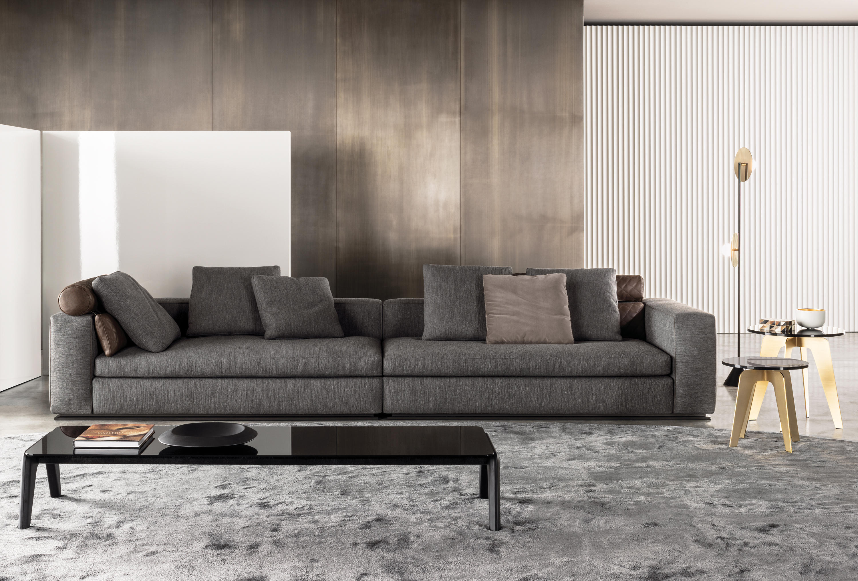 Leonard lounge sofas from minotti architonic for Sofa wohnzimmer