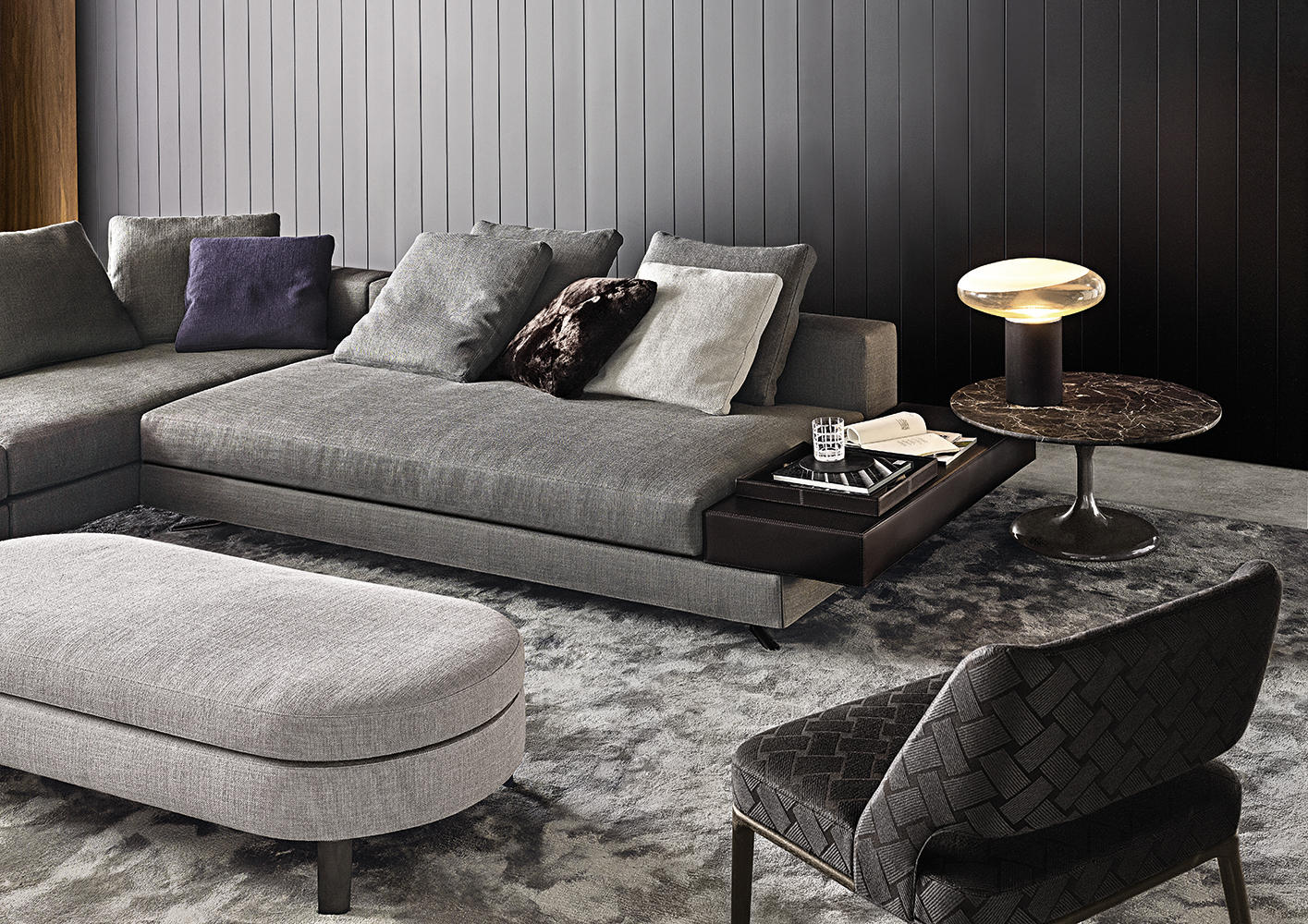 Enjoyable White Sofas From Minotti Architonic Caraccident5 Cool Chair Designs And Ideas Caraccident5Info