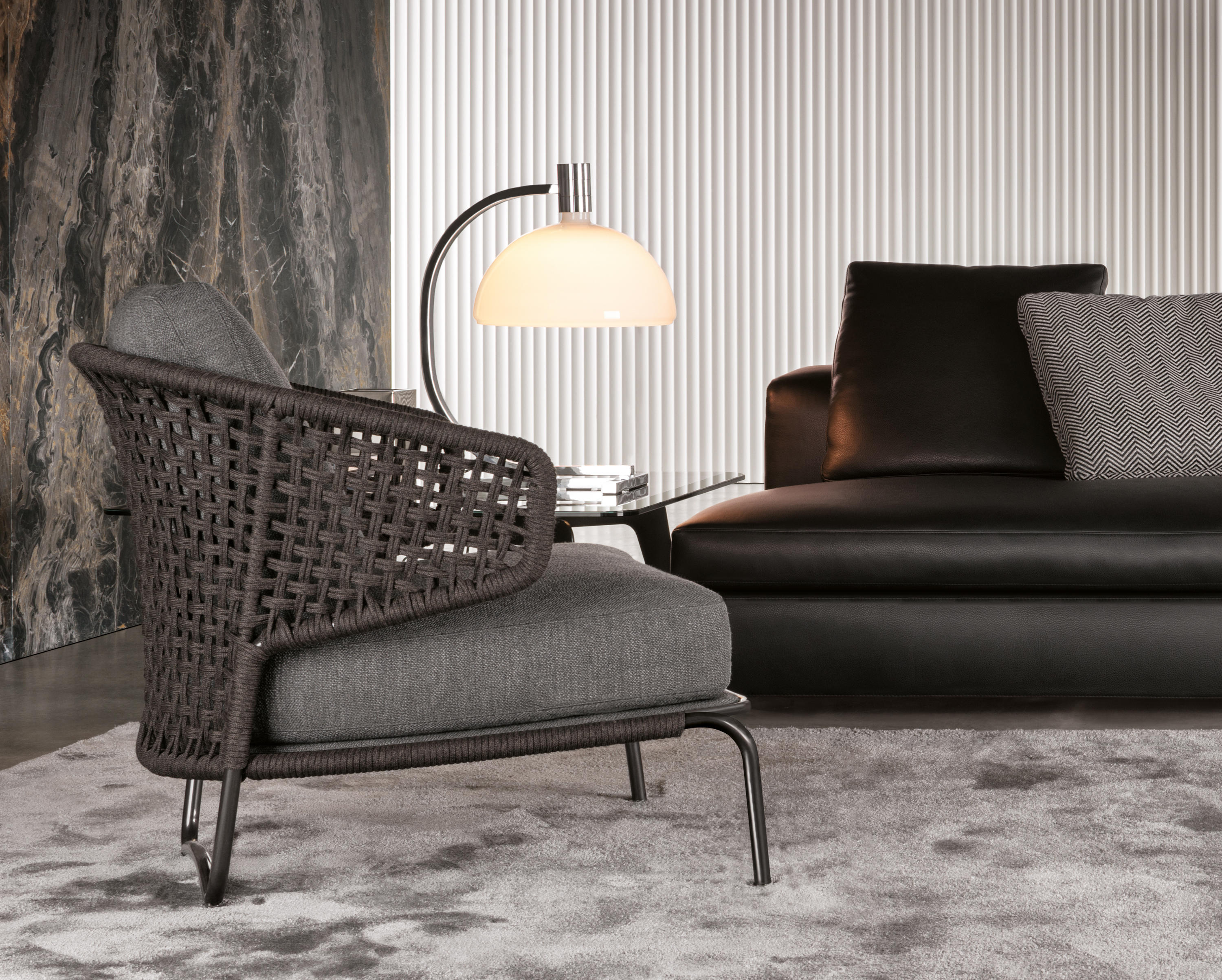 aston cord indoor lounge chairs from minotti architonic. Black Bedroom Furniture Sets. Home Design Ideas