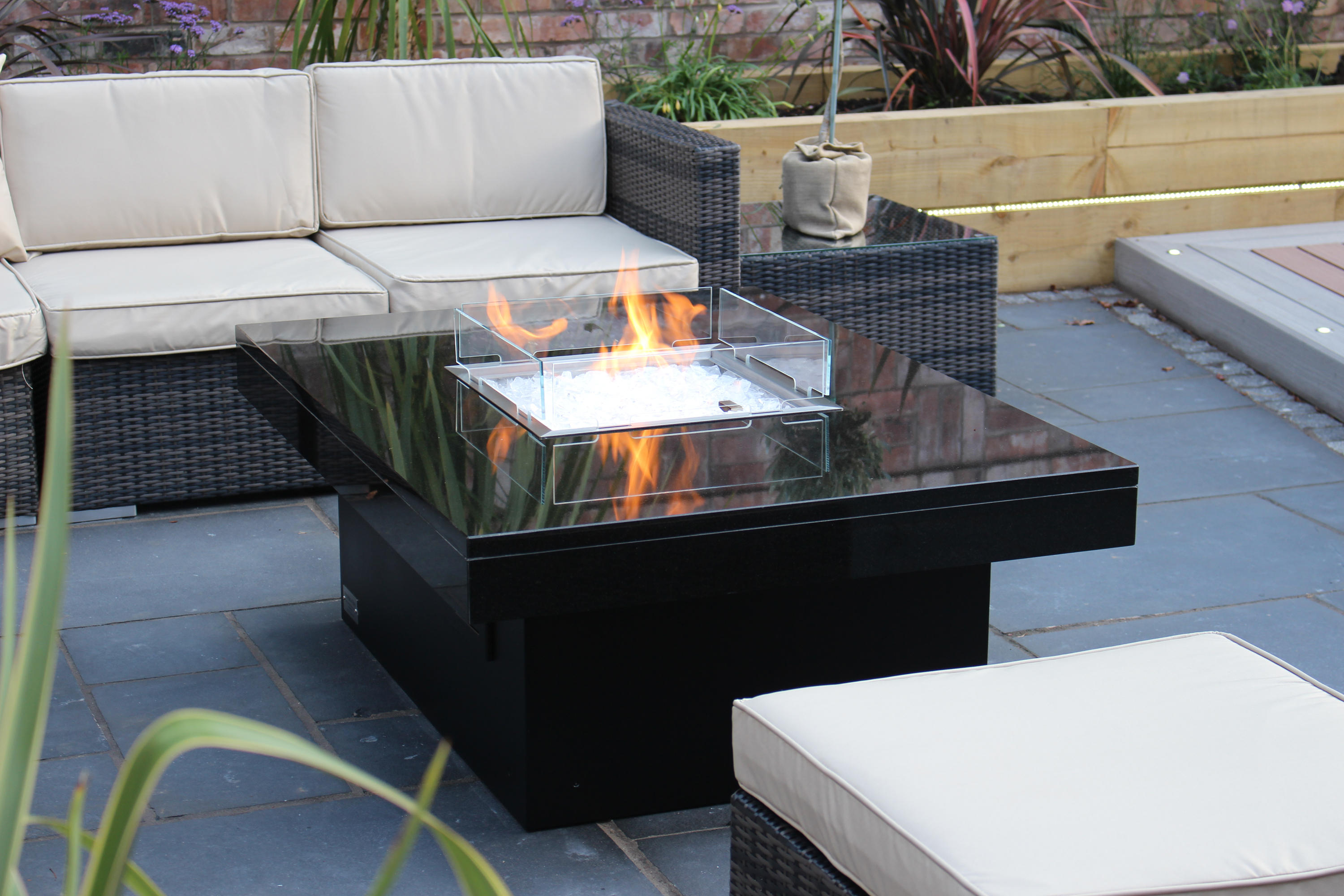 MADRID GAS FIRE TABLE Garden fire pits from Rivelin