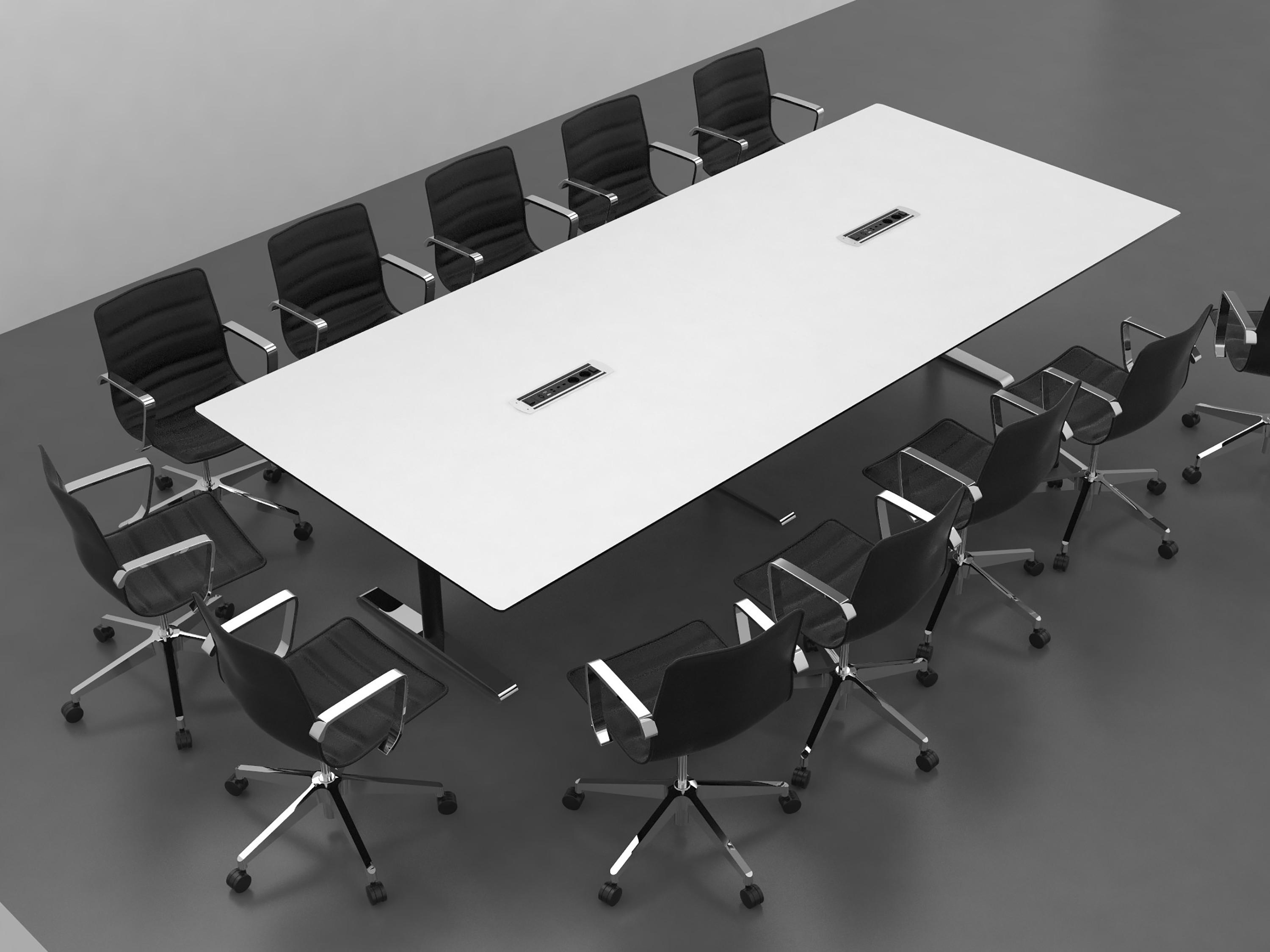 QUADRO CONFERENCE TABLE Contract Tables From Cube Design Architonic - White laminate conference table