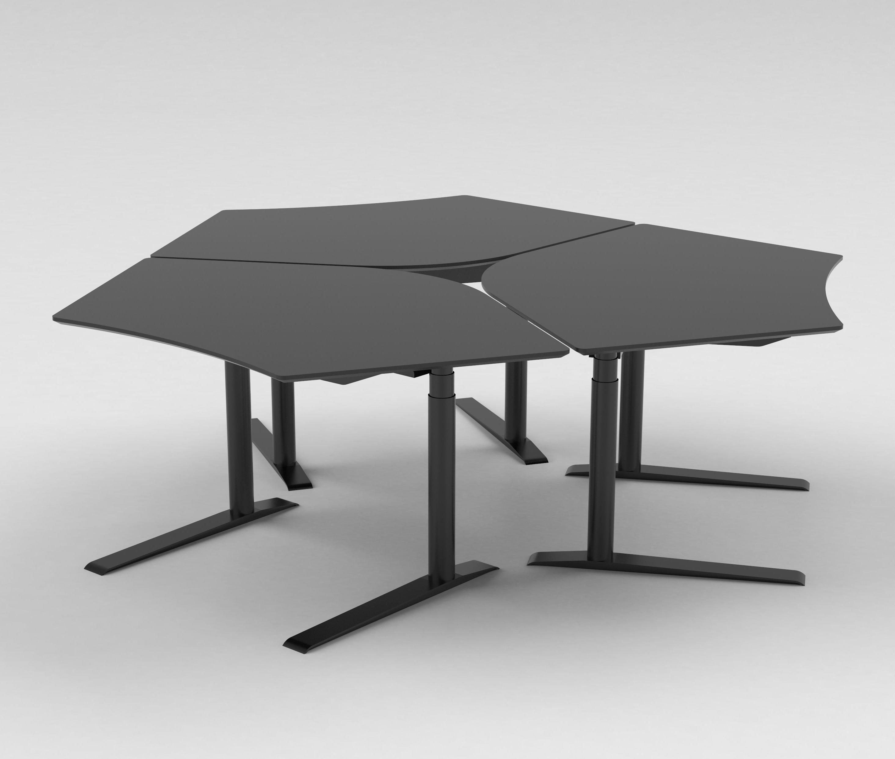 Sit Stand Desk Designs : Quadro sit stand desk individual desks from cube design