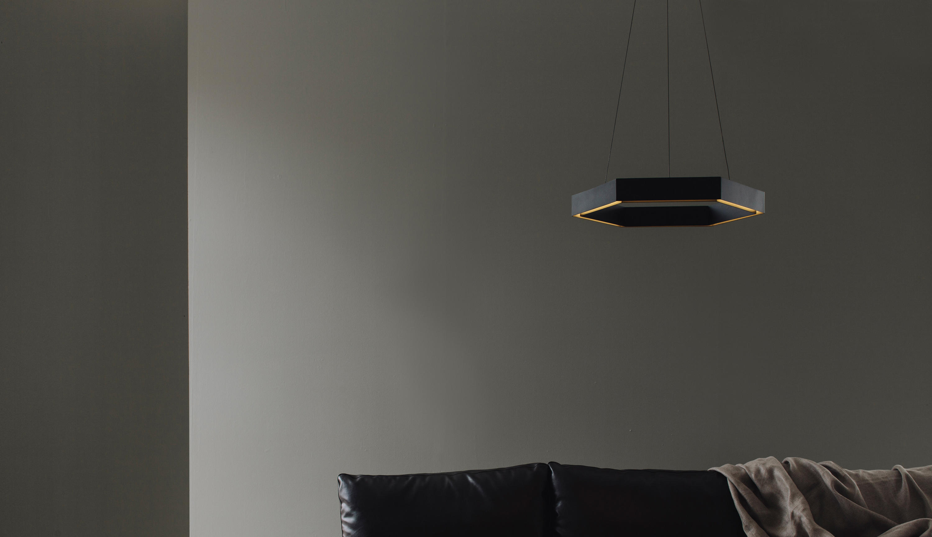 Hex 750 Brass Pendant Suspended Lights From Resident