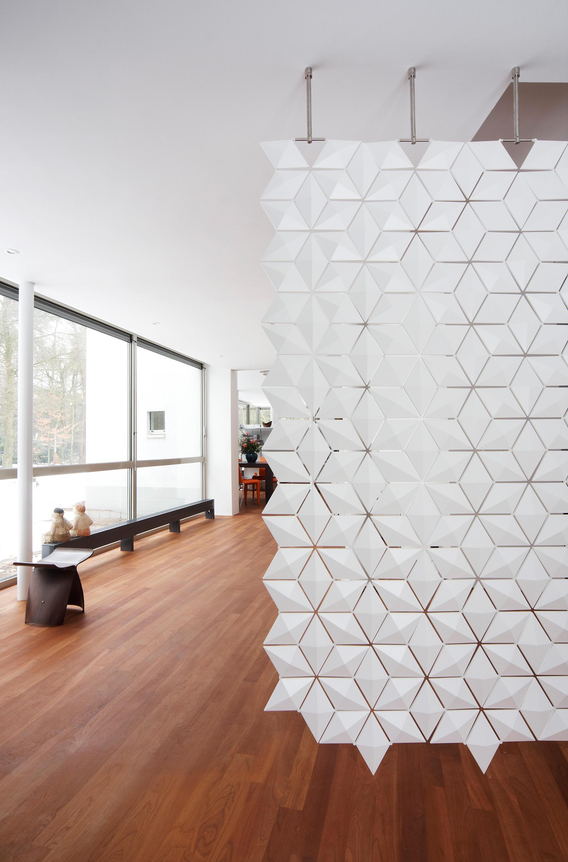 Hanging room divider facet paleblue space dividers - Separador de ambientes ...