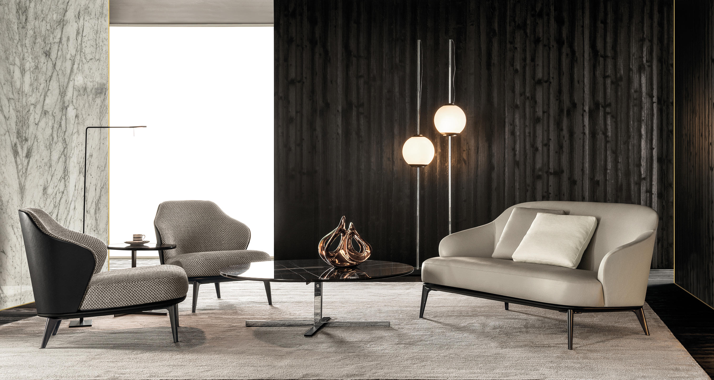 leslie sofa lounge sofas from minotti architonic. Black Bedroom Furniture Sets. Home Design Ideas