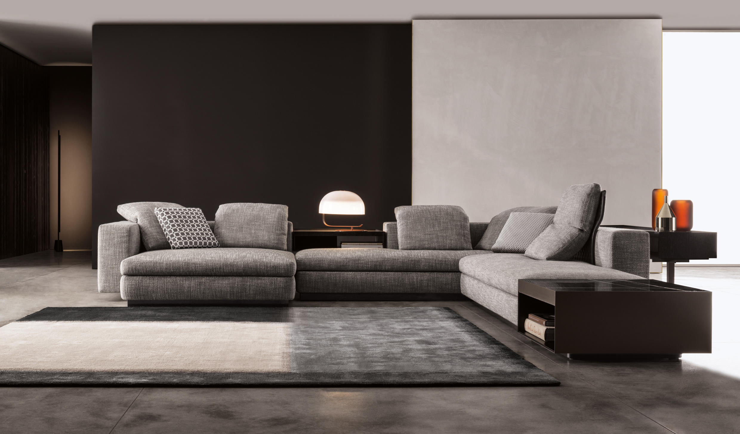 yang sofas from minotti architonic. Black Bedroom Furniture Sets. Home Design Ideas