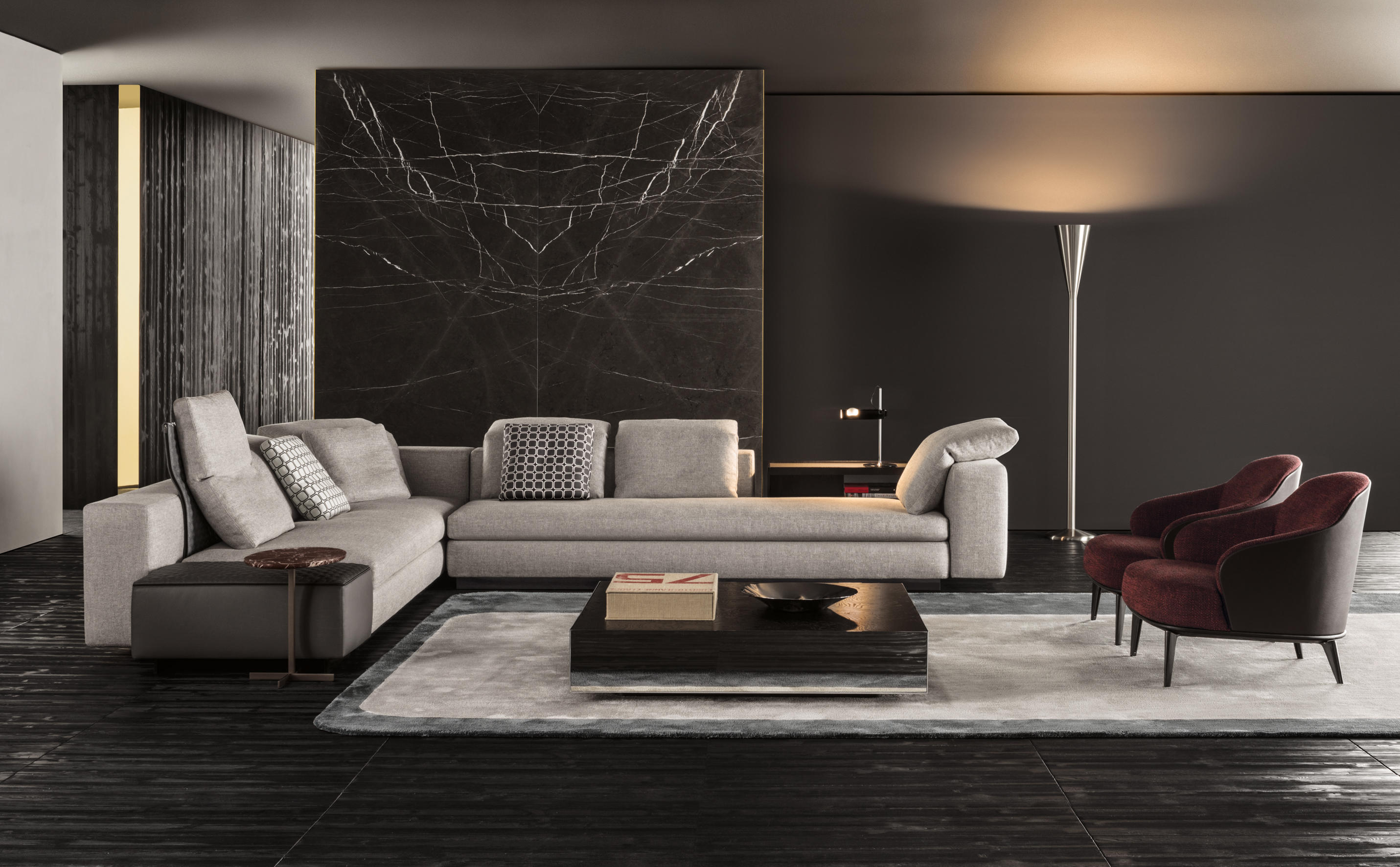 yang modular sofa systems from minotti architonic. Black Bedroom Furniture Sets. Home Design Ideas