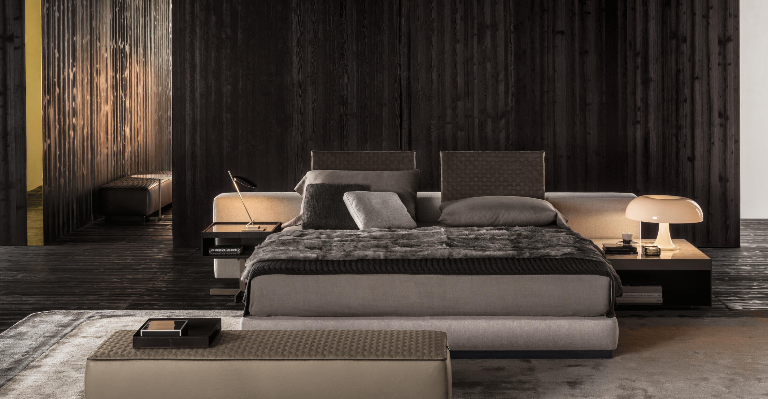 Yang bed offset double beds from minotti architonic for Minotti yang prezzo