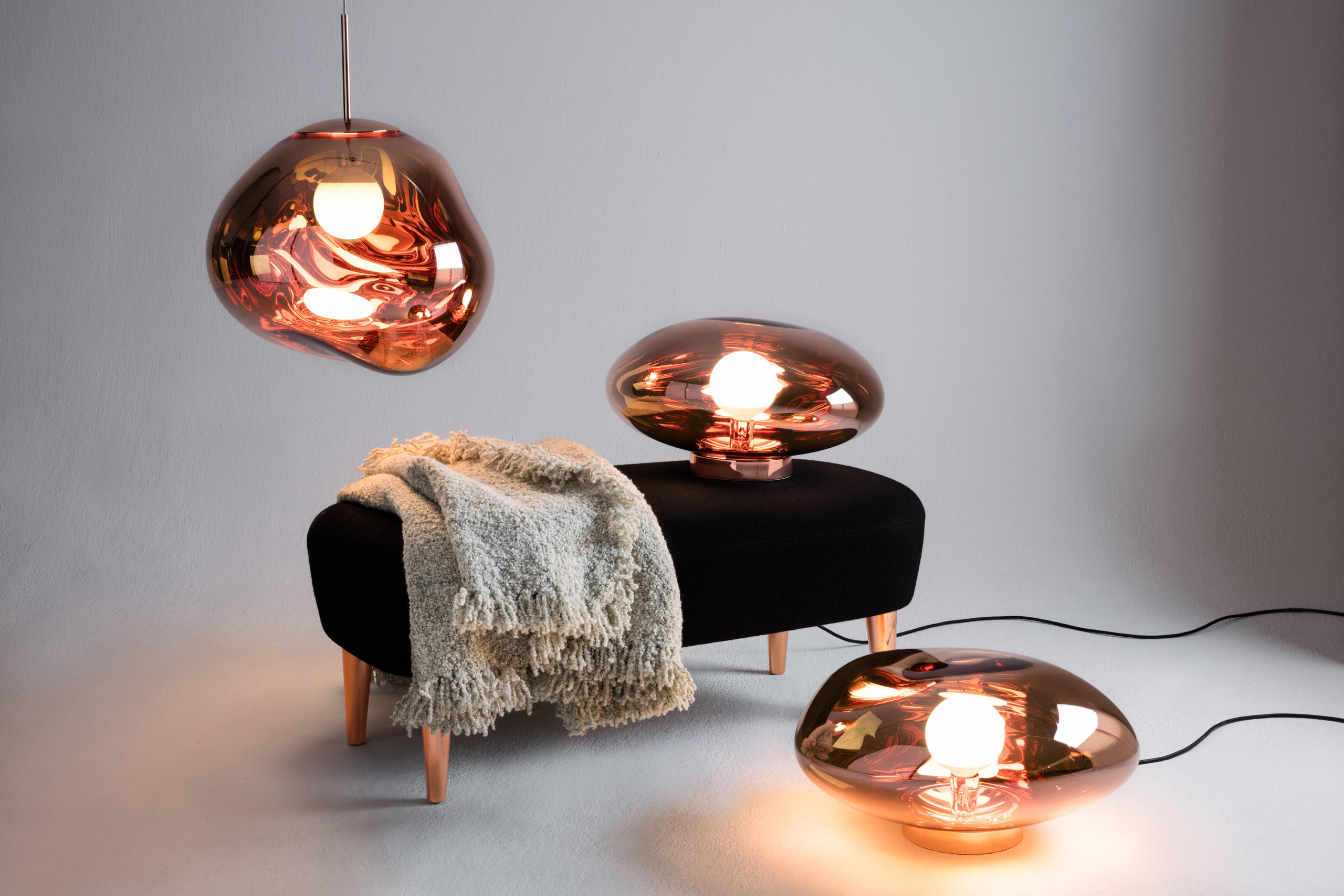 Melt Floor Light Copper Free Standing Lights From Tom