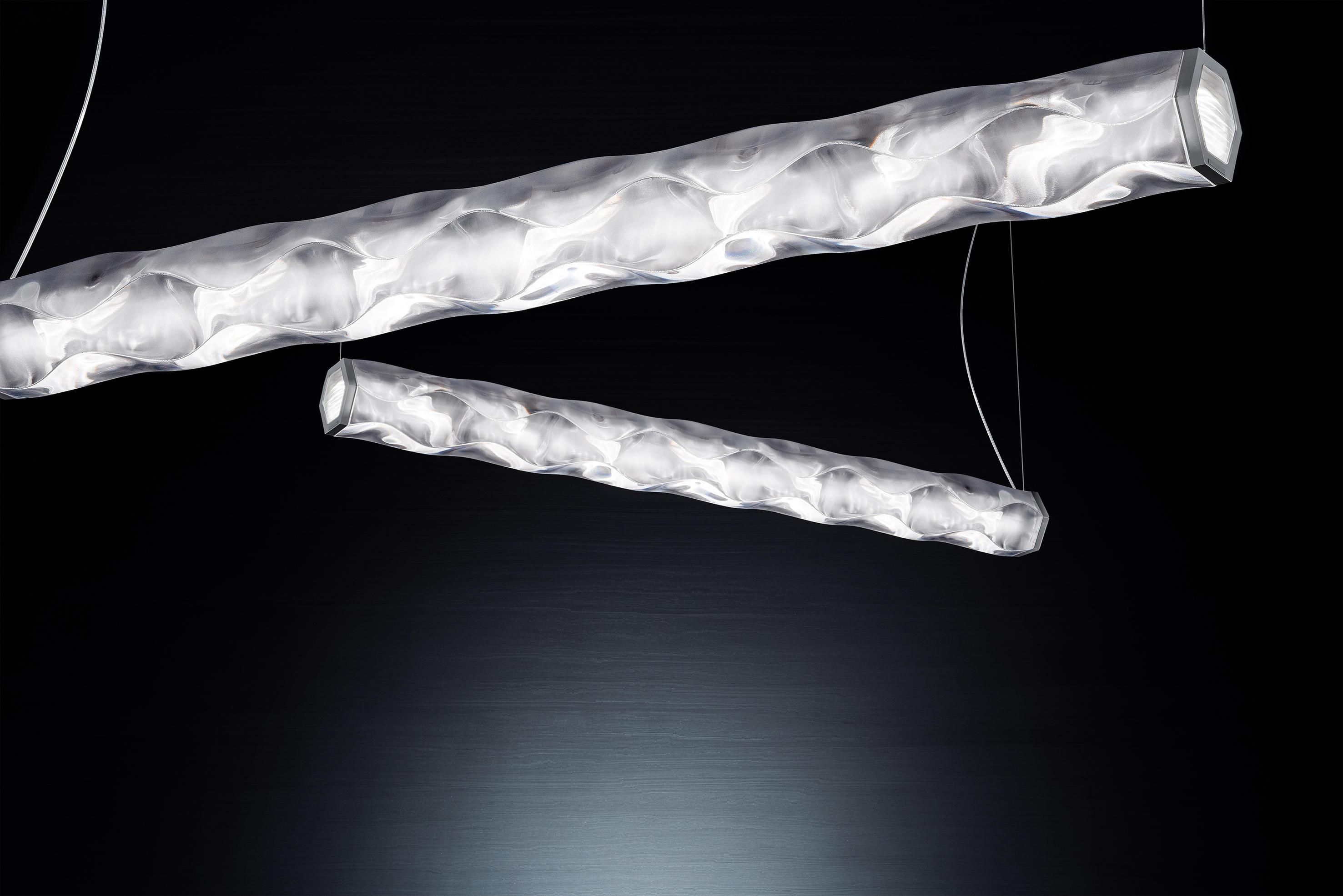 Hugo white suspension general lighting from slamp for Slamp lampadari