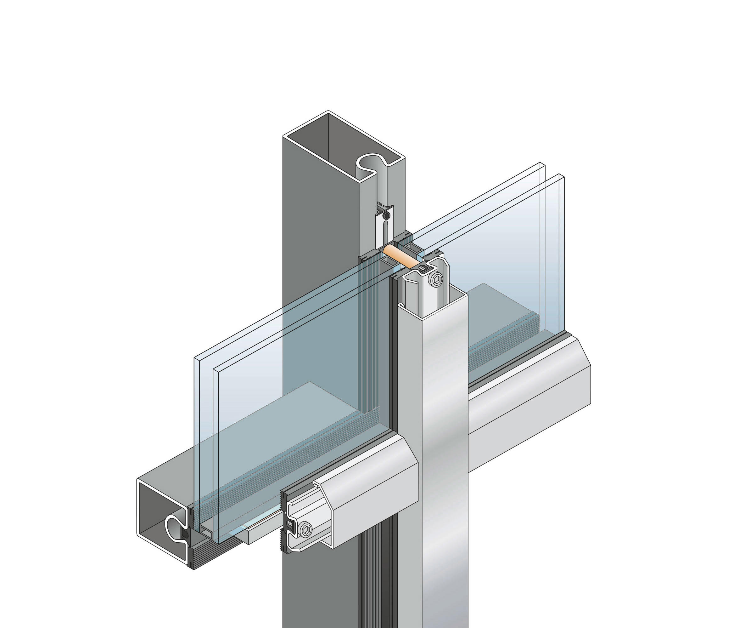 forster thermfix vario pfosten riegel fassade fassadensysteme von forster profile systems. Black Bedroom Furniture Sets. Home Design Ideas