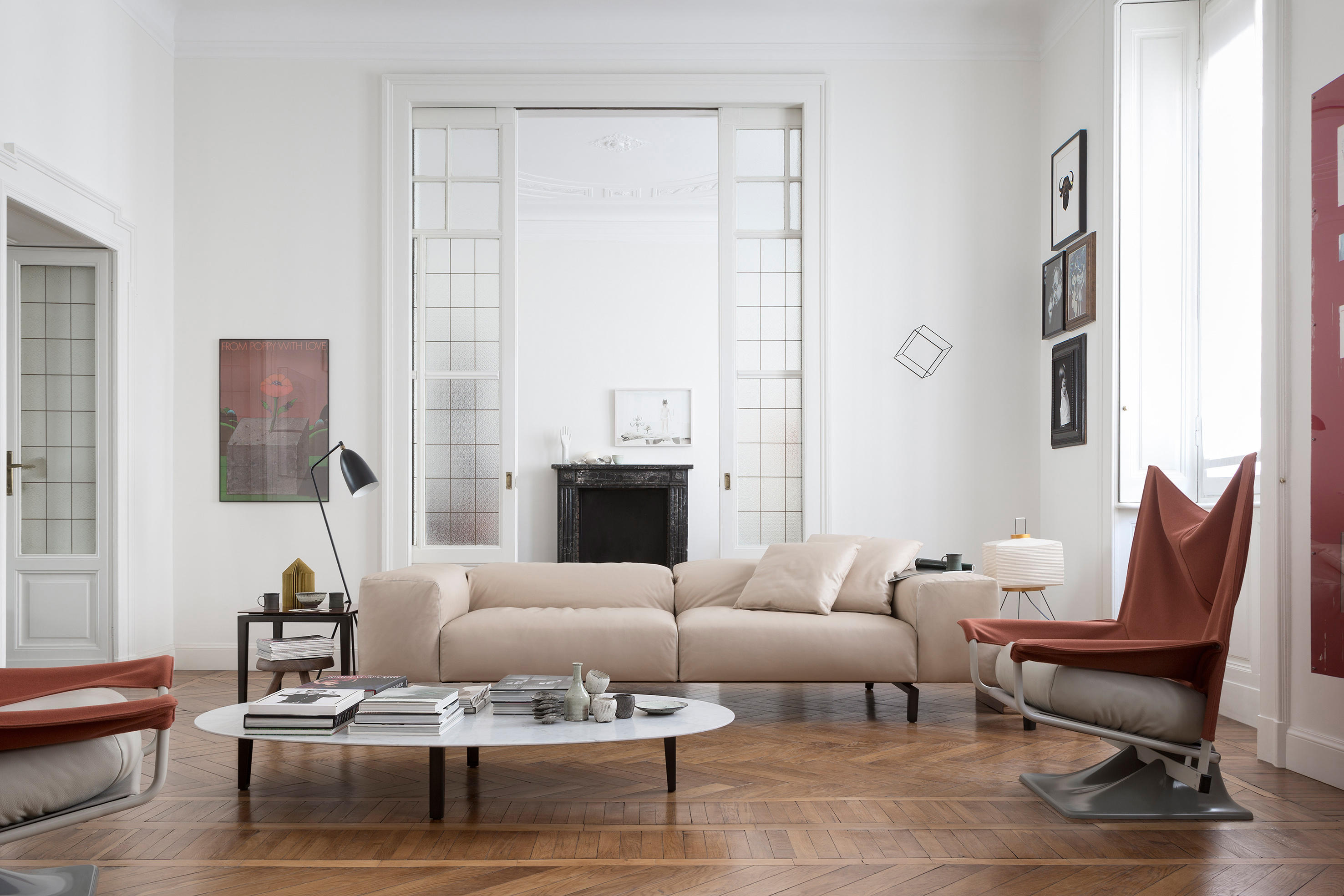 204 02 scighera two seater sofa sofas from cassina